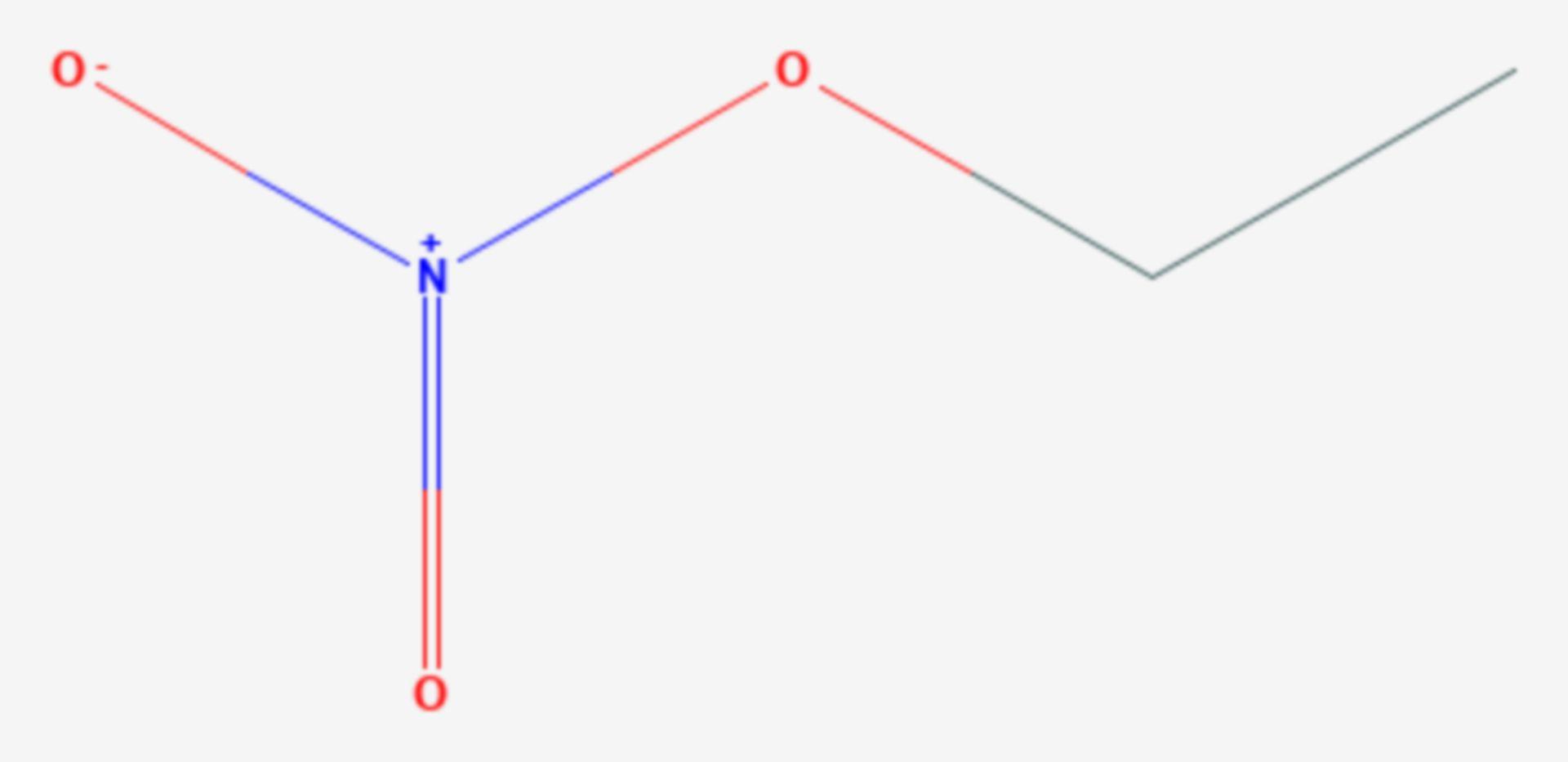 Ethylnitrat (Strukturformel)
