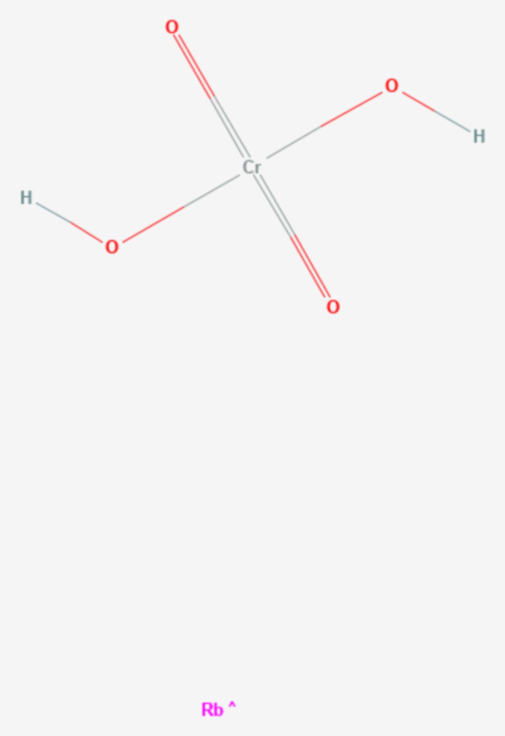 Rubidiumchromat (Strukturformel)