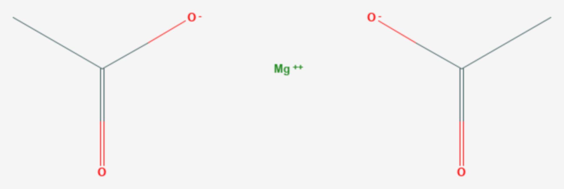 Magnesiumacetat (Strukturformel)