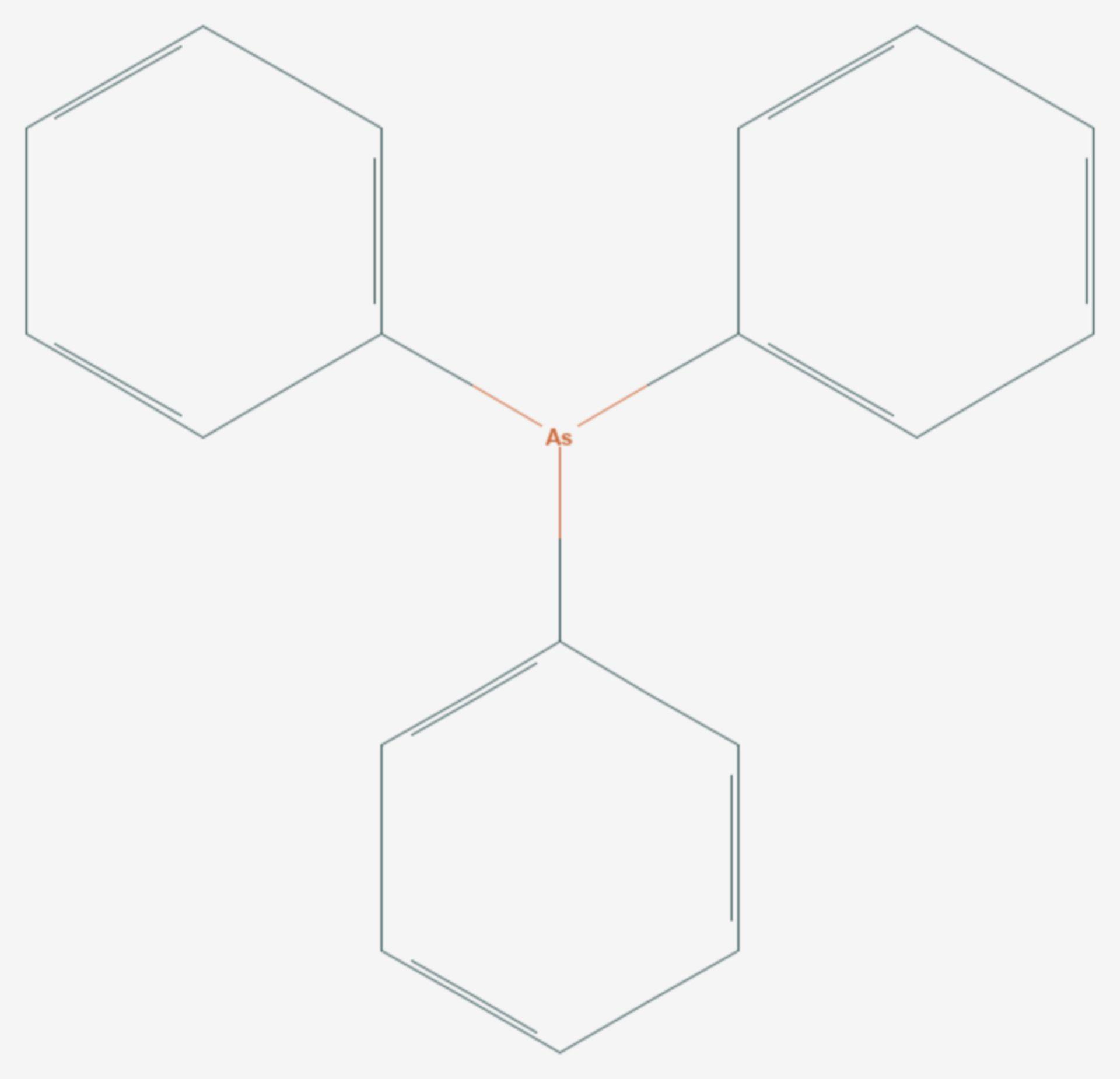 Triphenylarsan (Strukturformel)