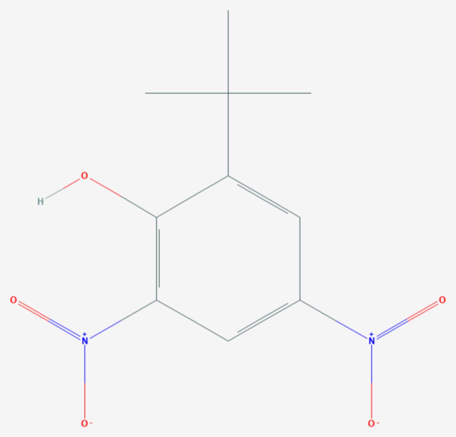 Dinoterb (Strukturformel)