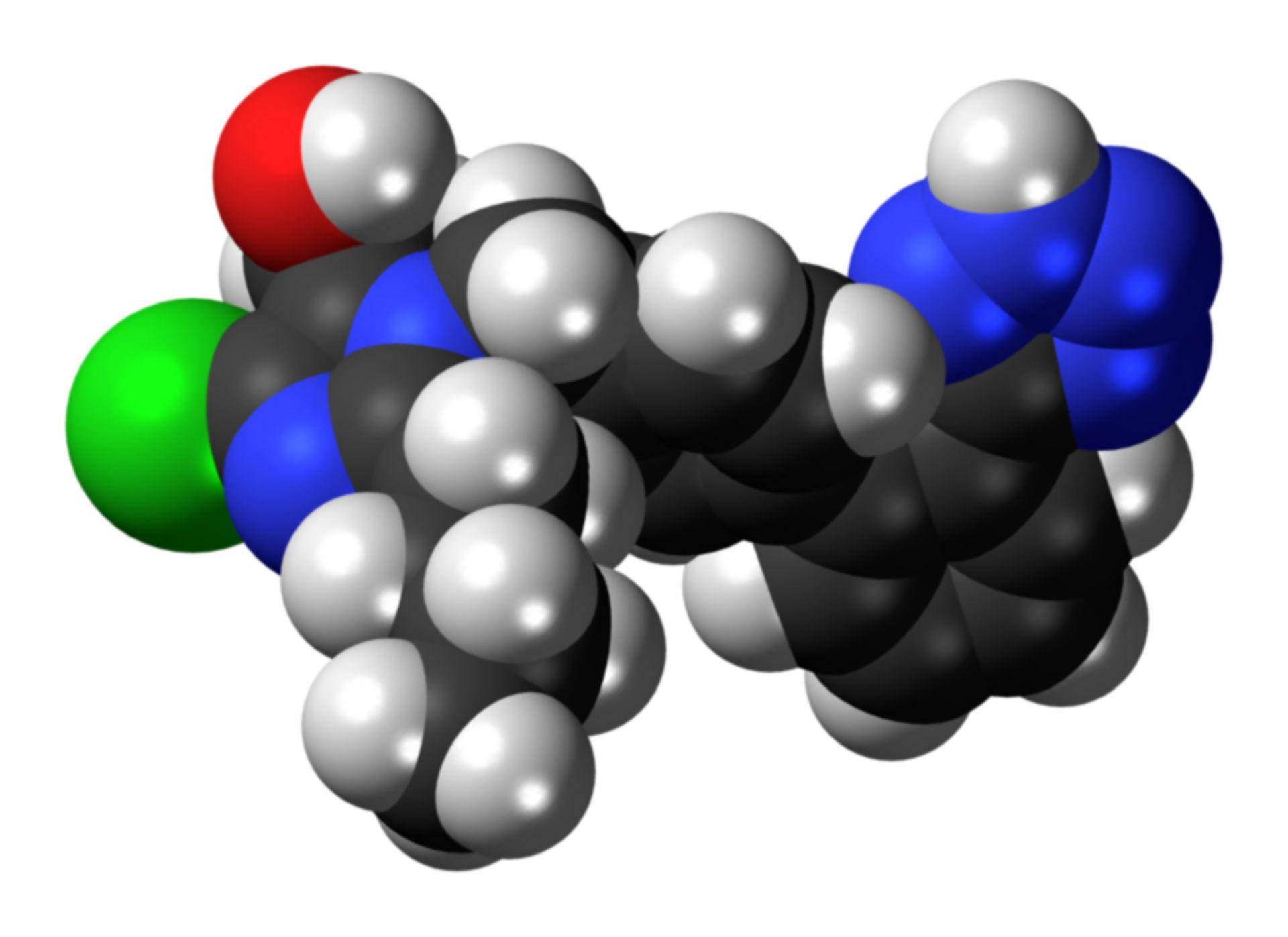 Losartan Strukturformel 3D
