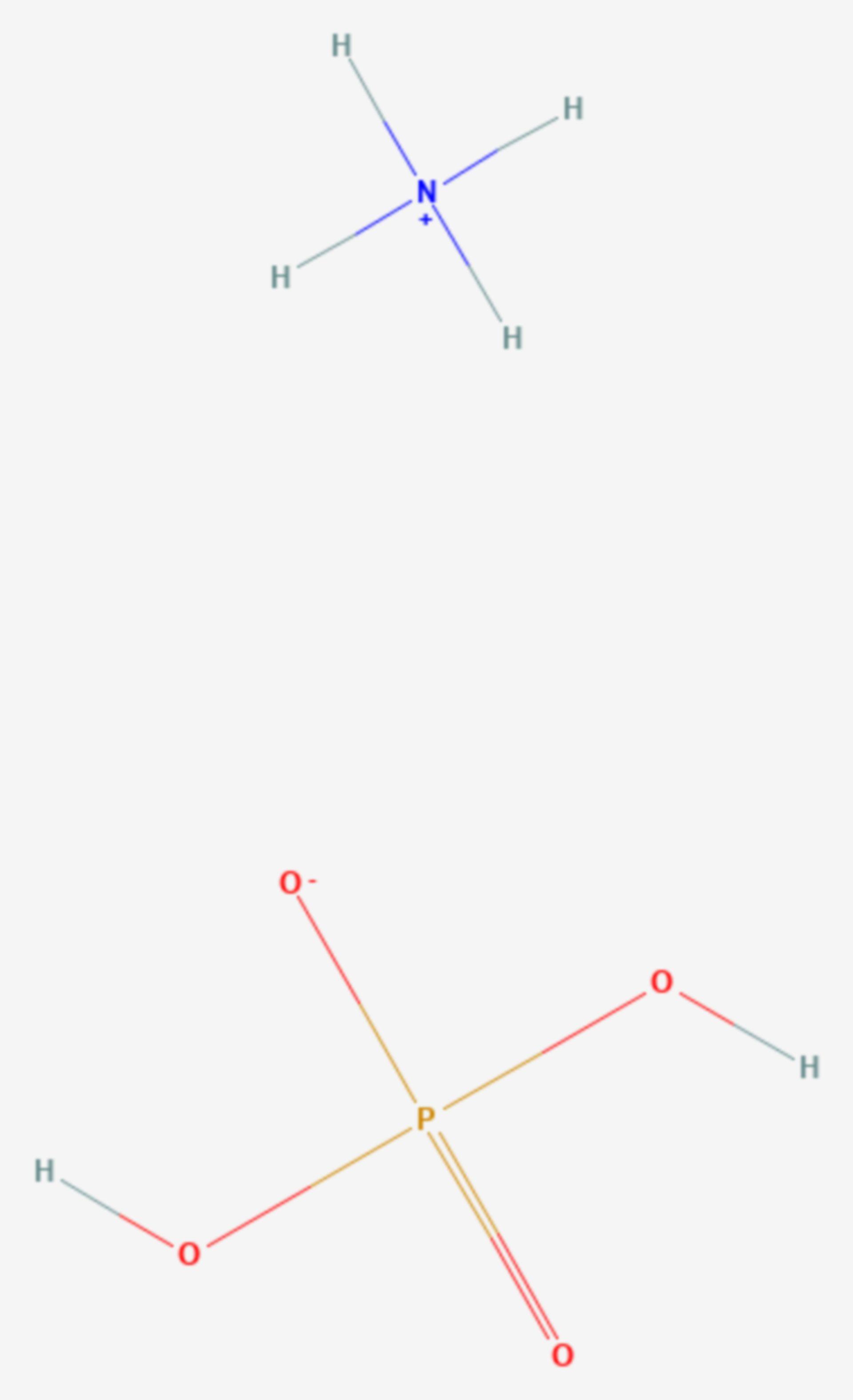 Ammoniumdihydrogenphosphat (Strukturformel)