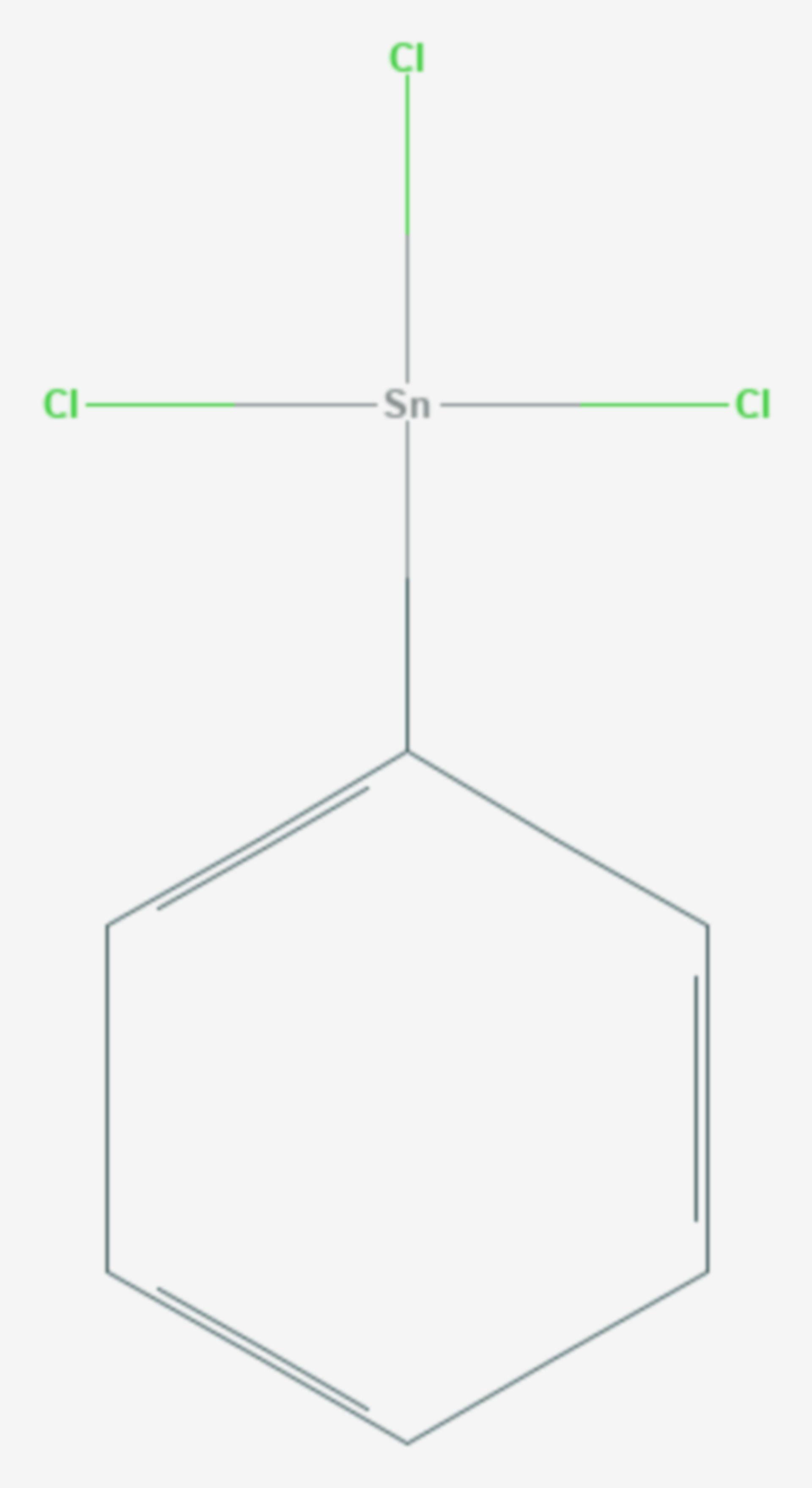 Phenylzinntrichlorid (Strukturformel)
