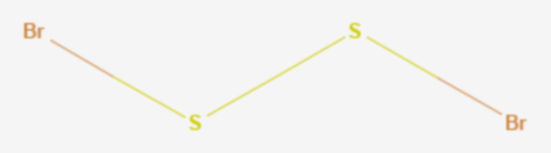 Dischwefeldibromid (Strukturformel)