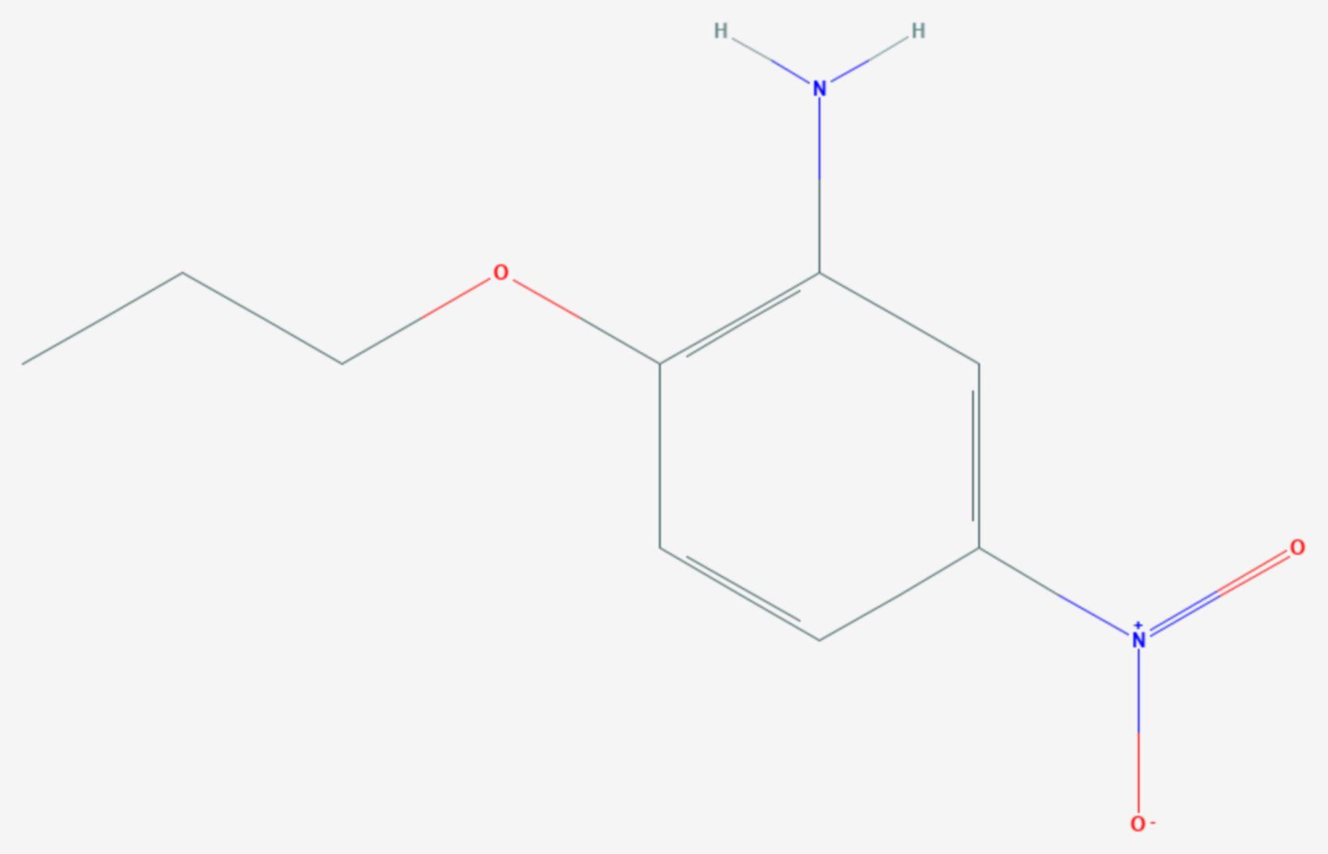 5-Nitro-2-propoxyanilin (Strukturformel)