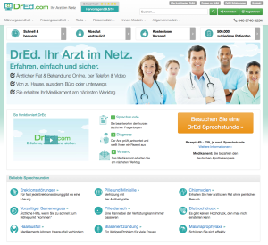 DrEd - Screenshot Website