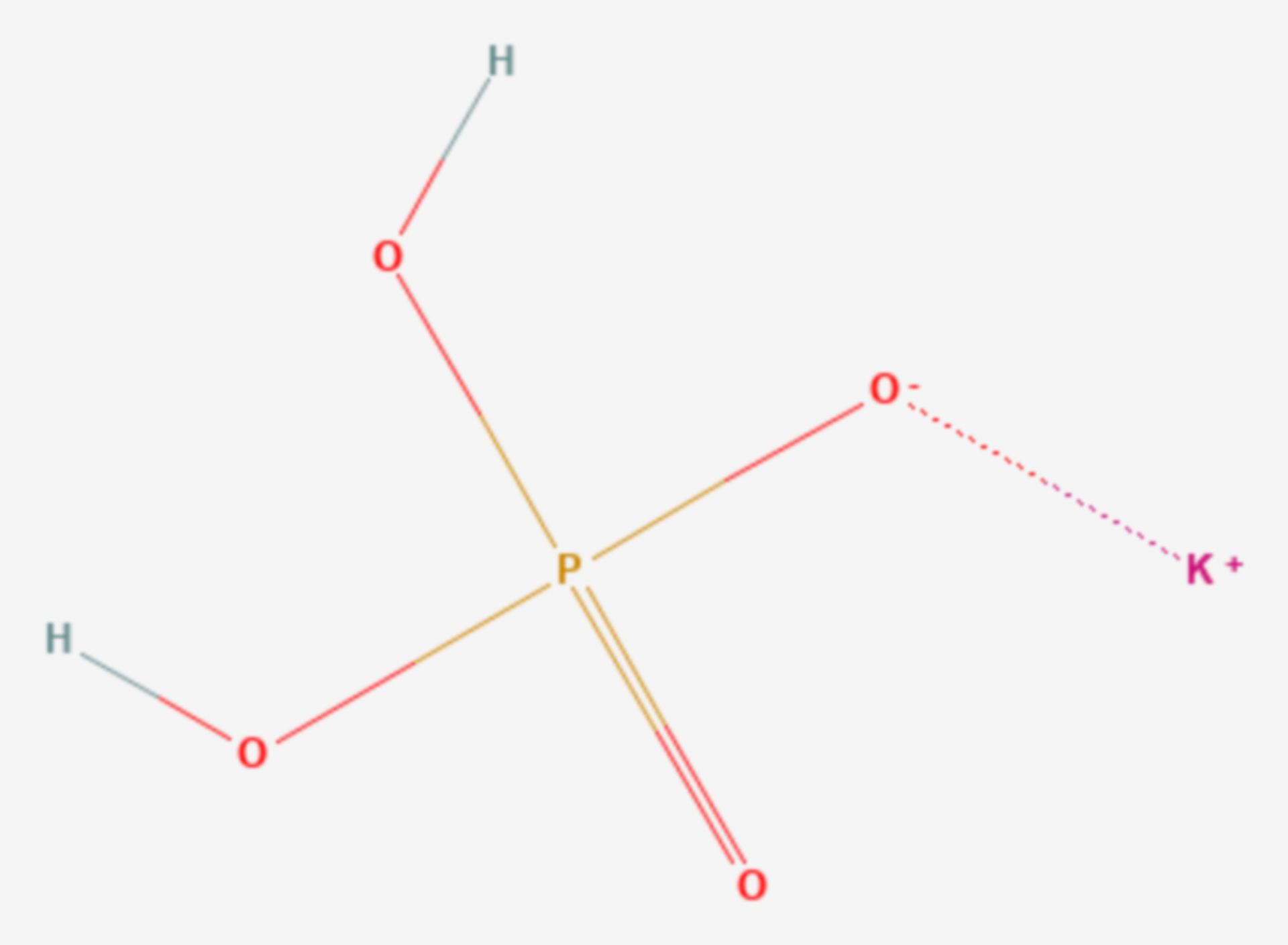 Kaliumdihydrogenphosphat (Strukturformel)
