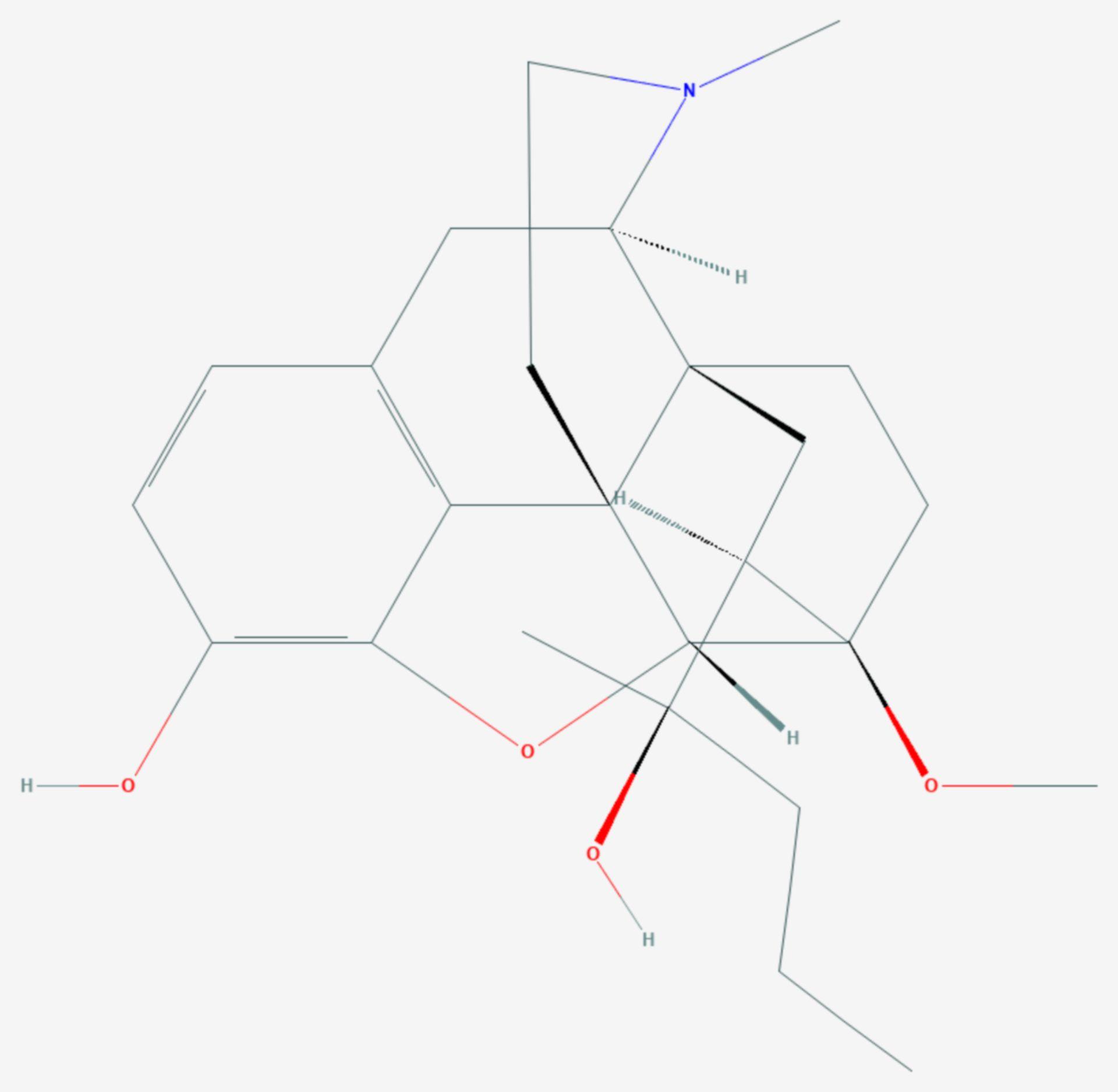 Dihydroetorphin (Strukturformel)