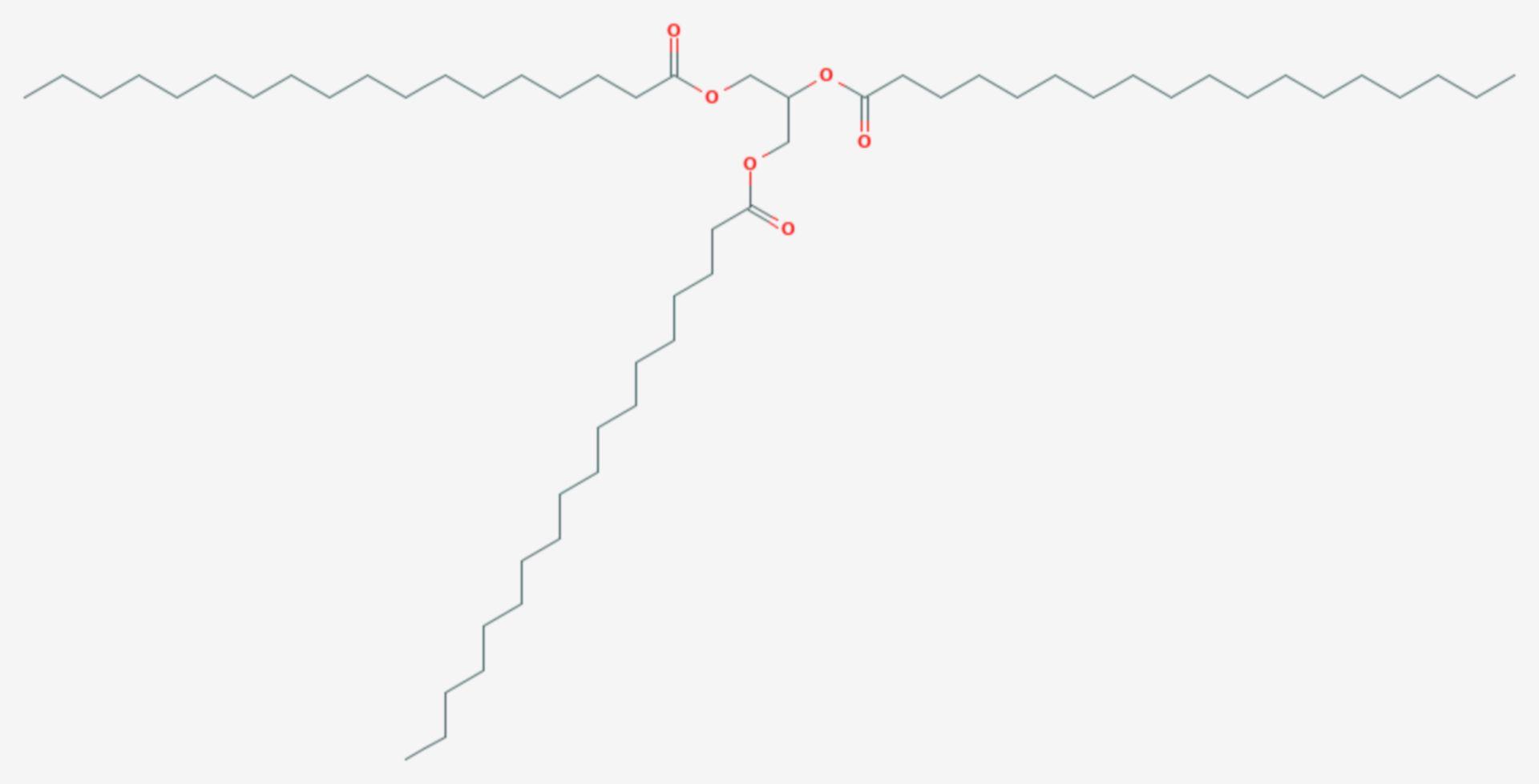 Tristearin (Strukturformel)