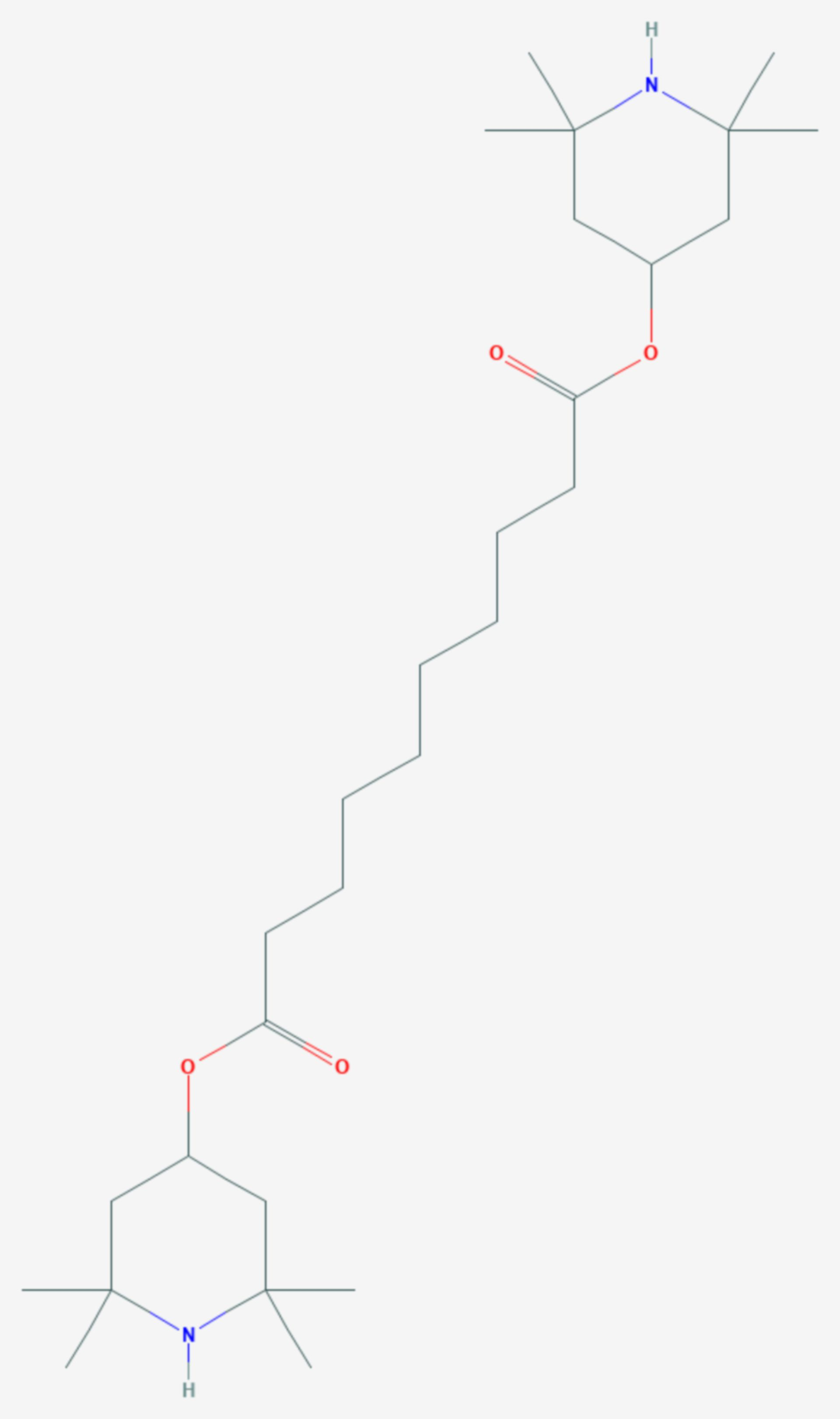 Bis(2,2,6,6-tetramethyl-4-piperidyl)sebacat (Strukturformel)