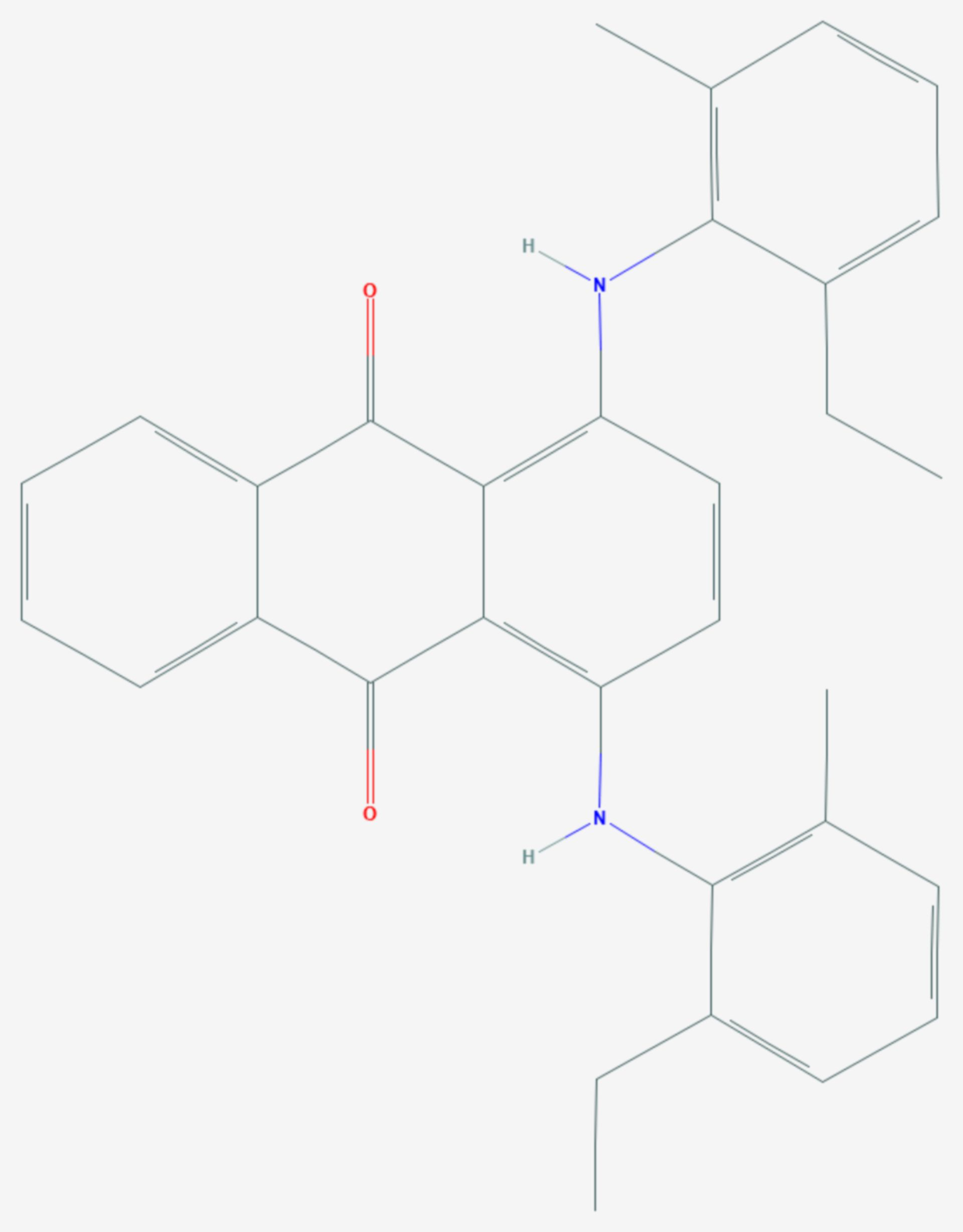 Macrolex Blau 3R (Strukturformel)
