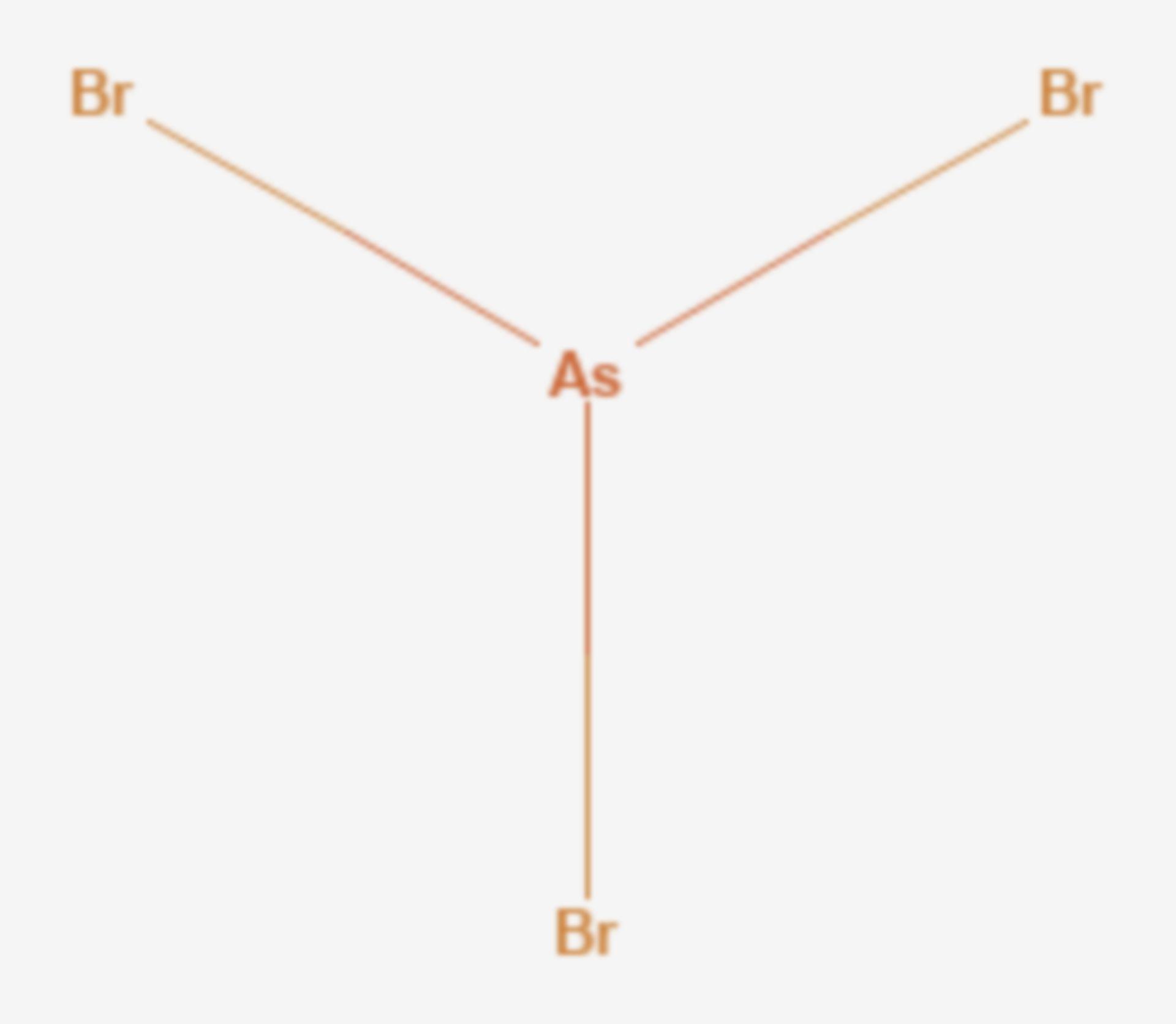 Arsen(III)-bromid (Strukturformel)