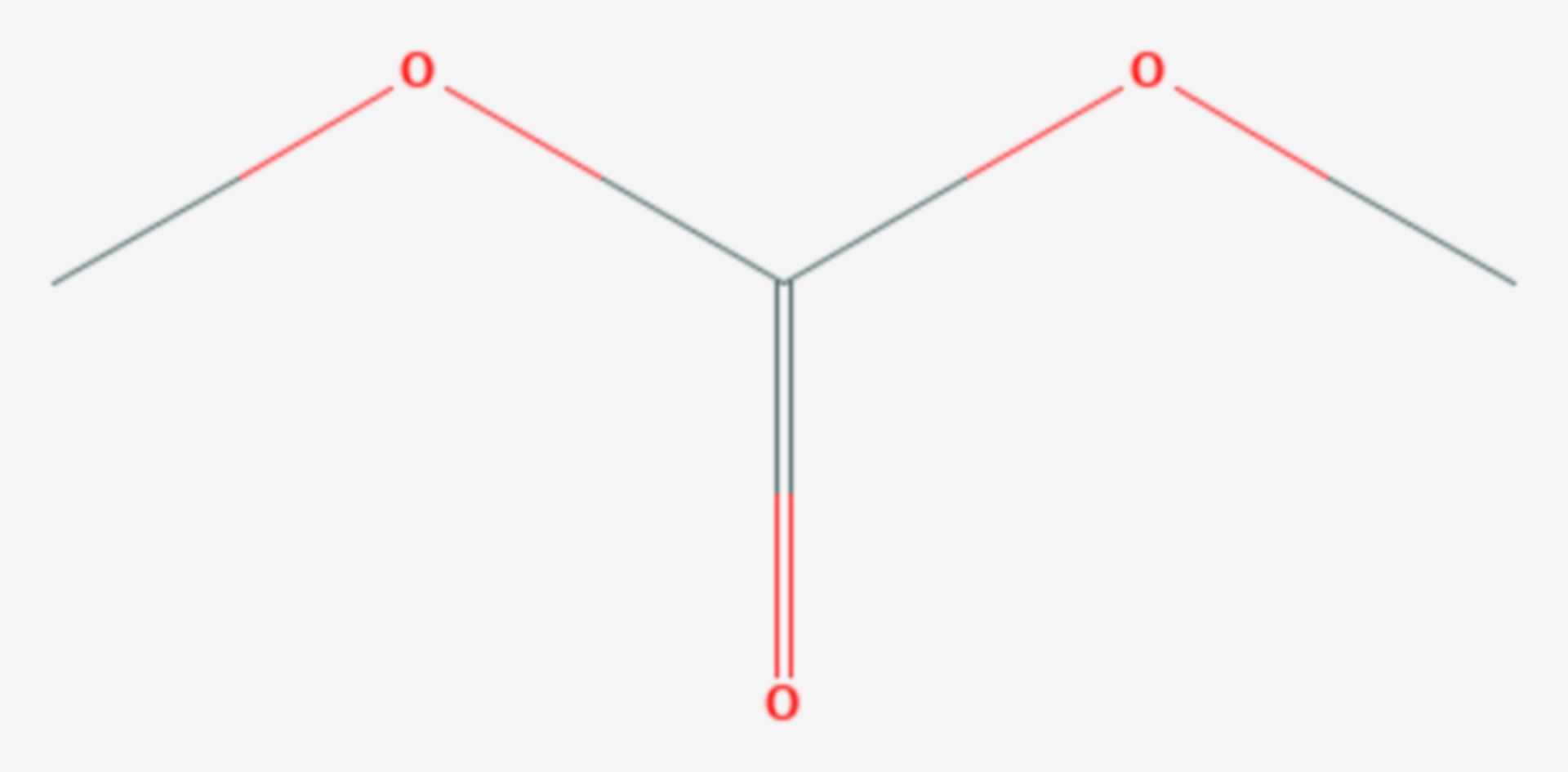 Kohlensäuredimethylester (Strukturformel)
