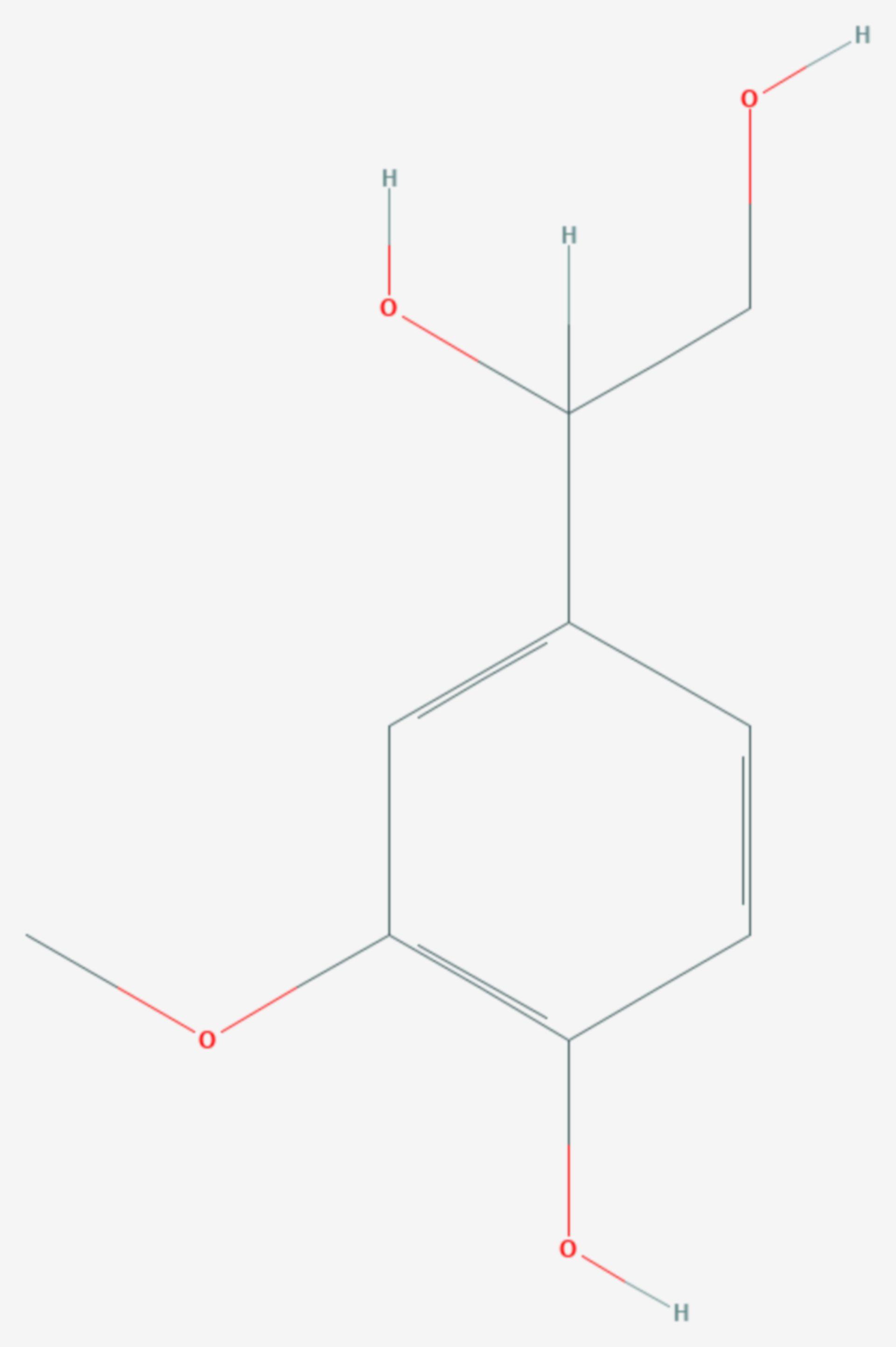 3-Methoxy-4-hydroxyphenylglycol (Strukturformel)