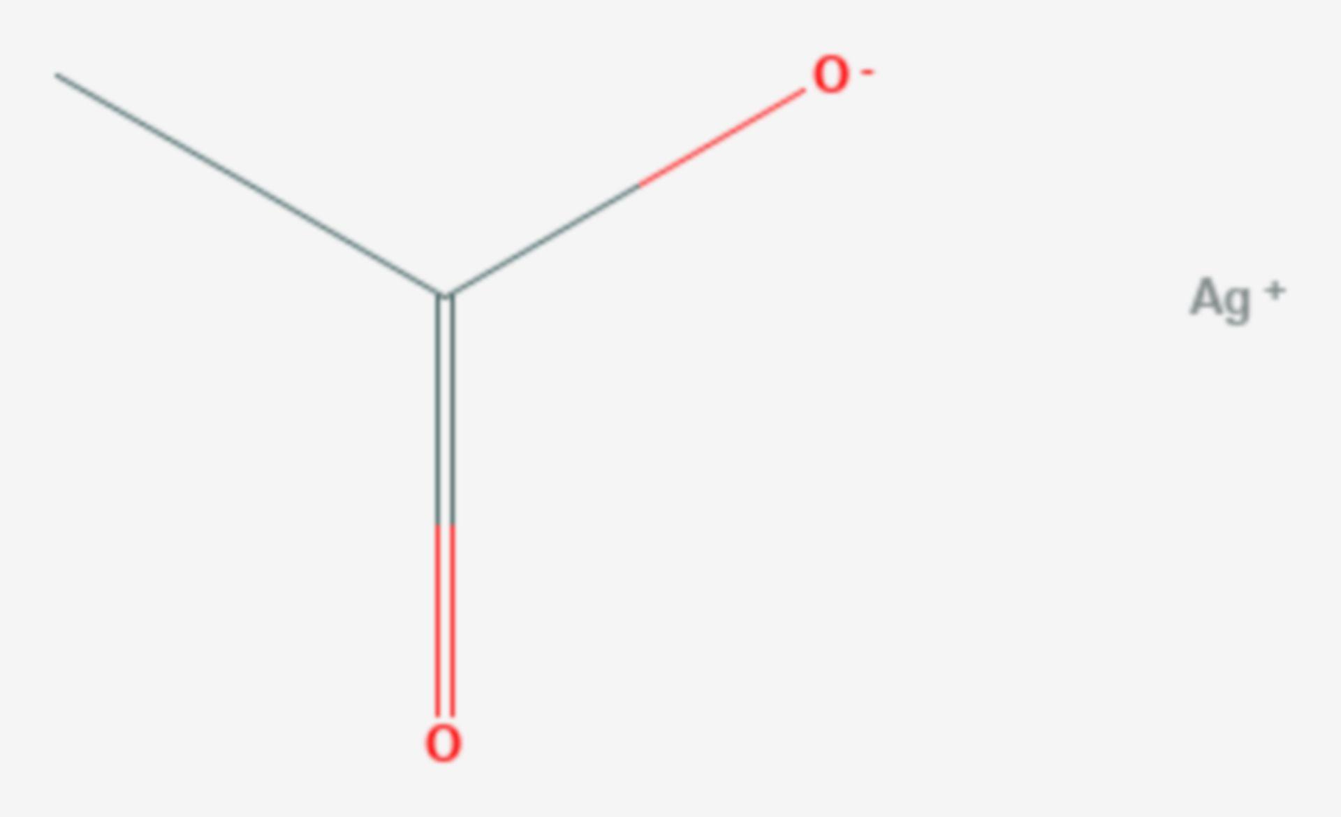 Silberacetat (Strukturformel)