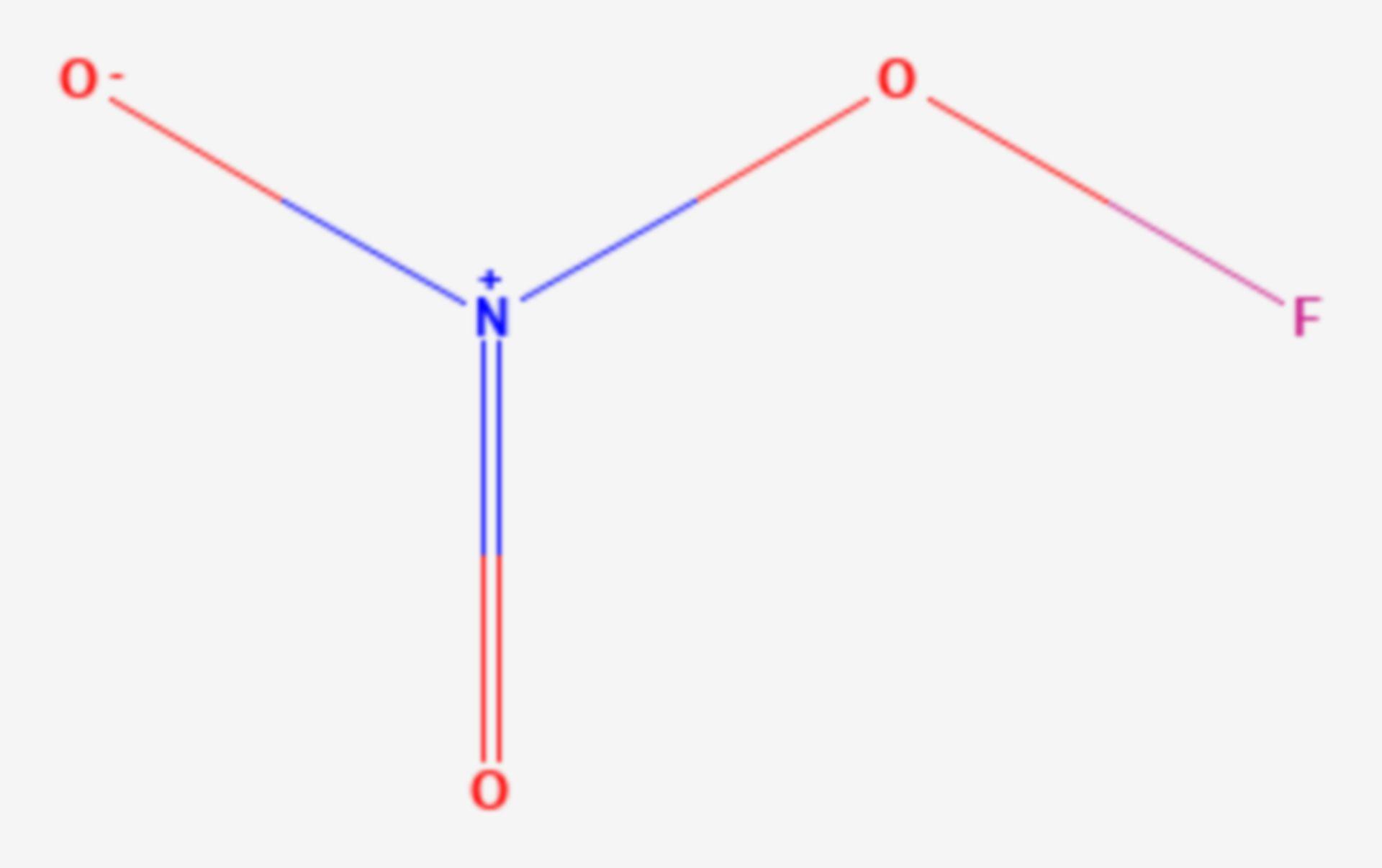 Stickstofftrioxidfluorid (Strukturformel)