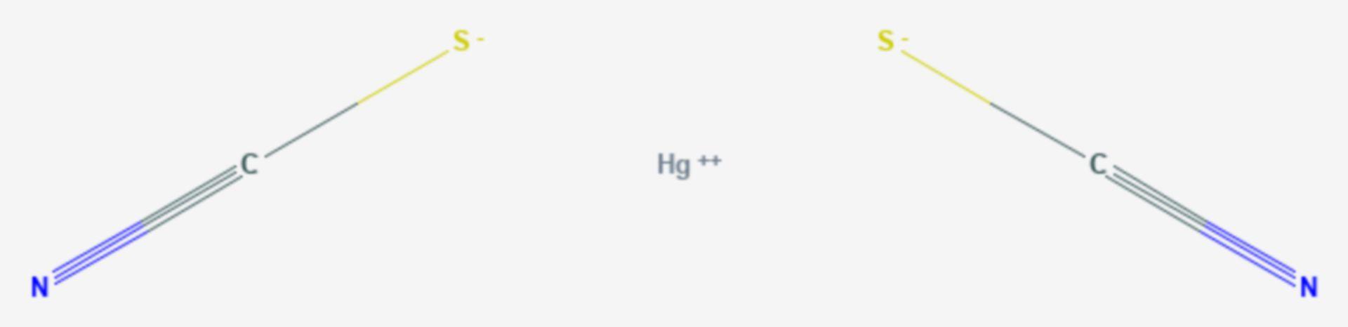 Quecksilber(II)-thiocyanat (Strukturformel)