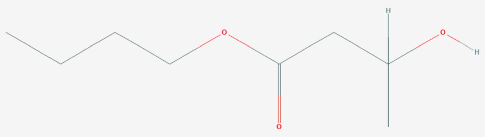 3-Hydroxybuttersäurebutylester (Strukturformel)