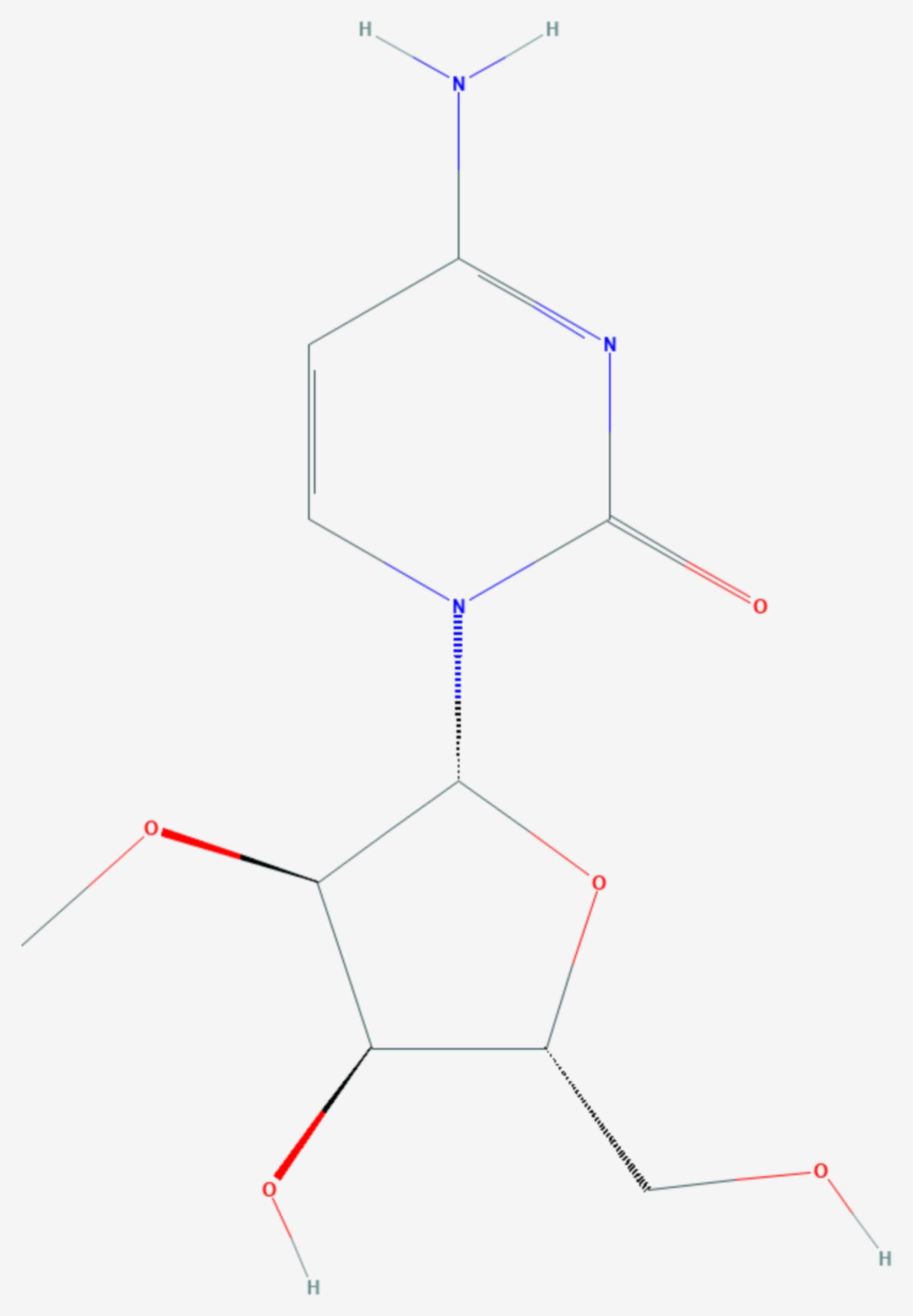 2′-O-Methylcytidin (Strukturformel)