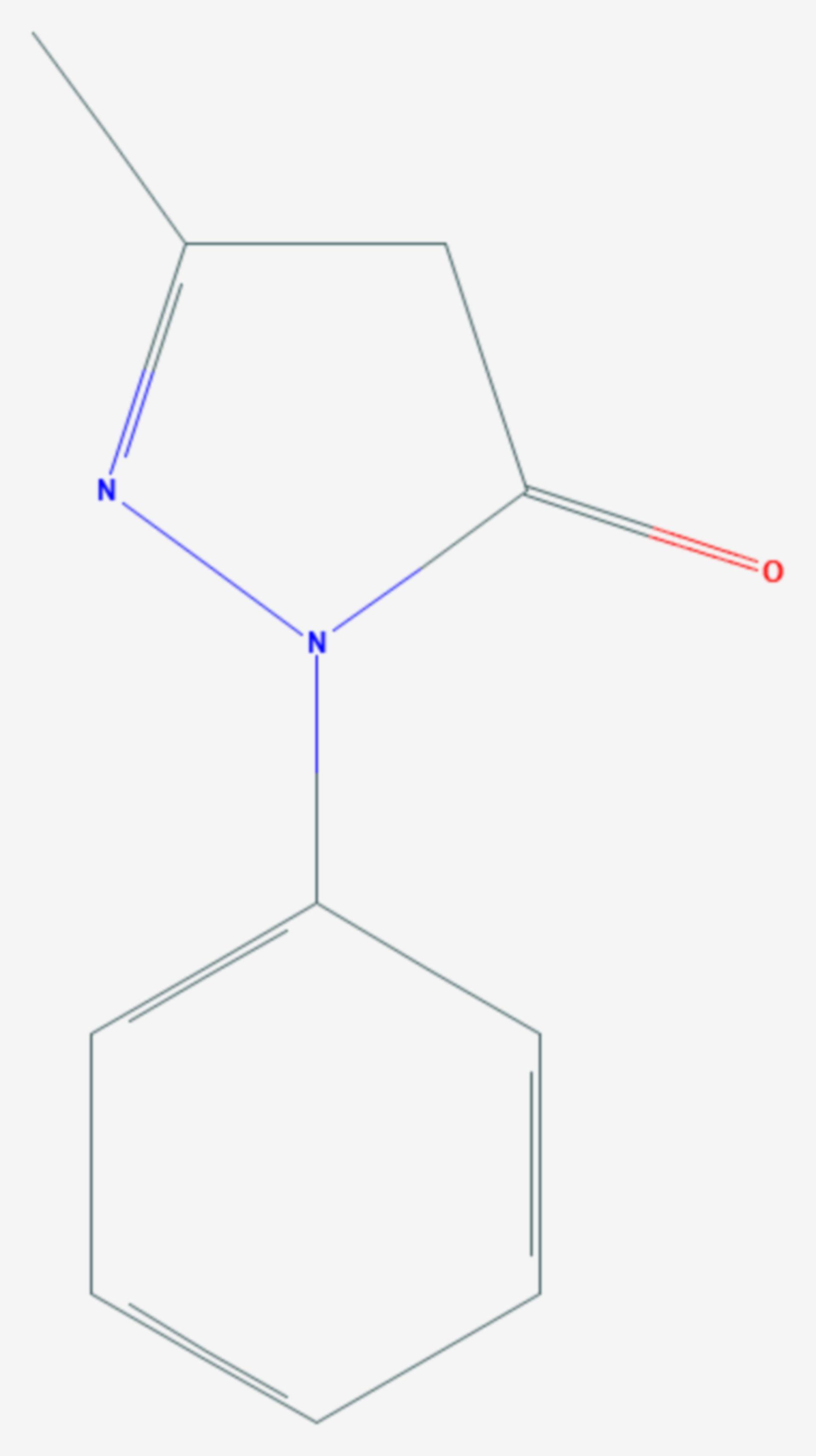 3-Methyl-1-phenyl-5-pyrazolon (Strukturformel)