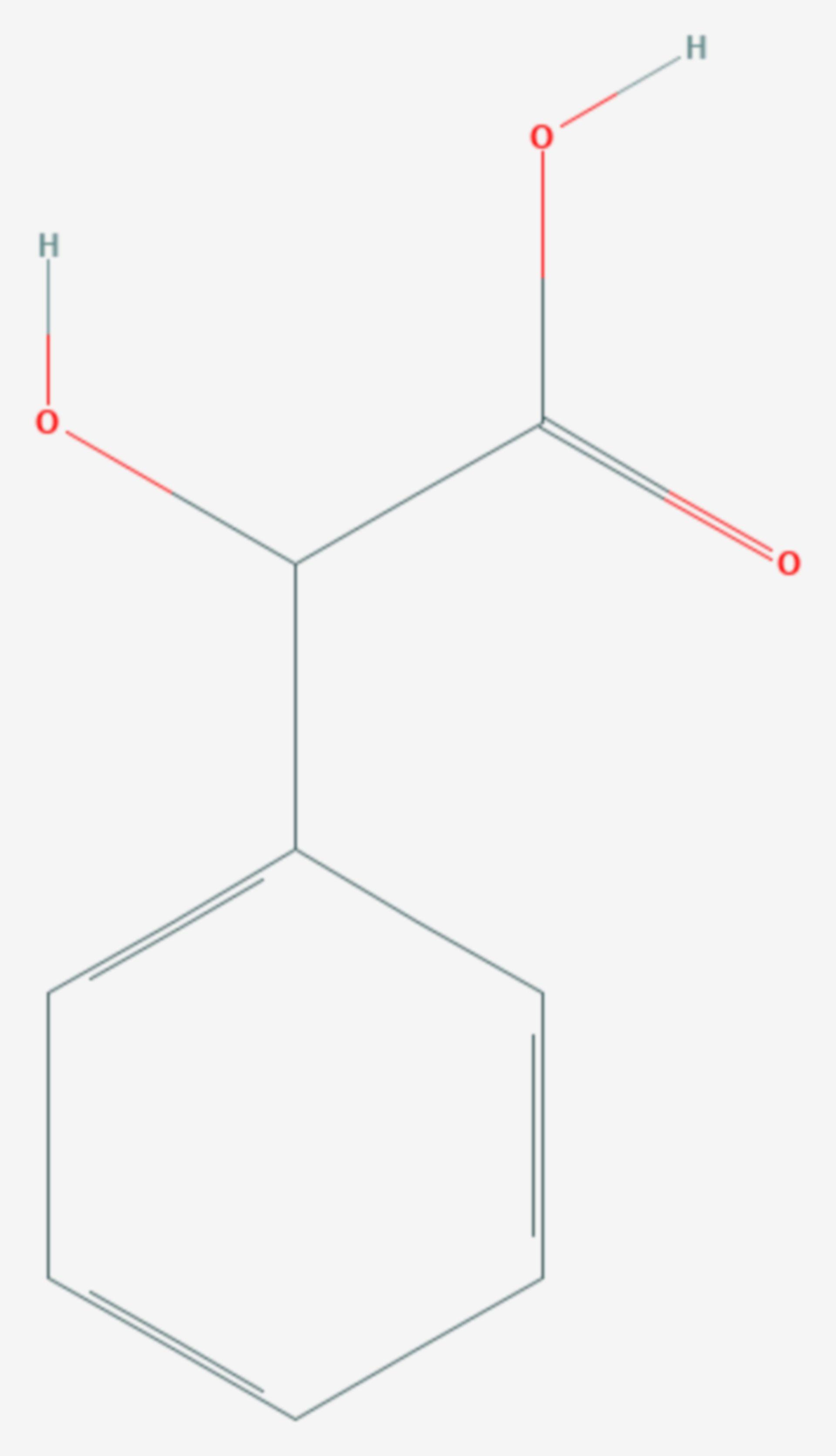 Mandelsäure (Strukturformel)