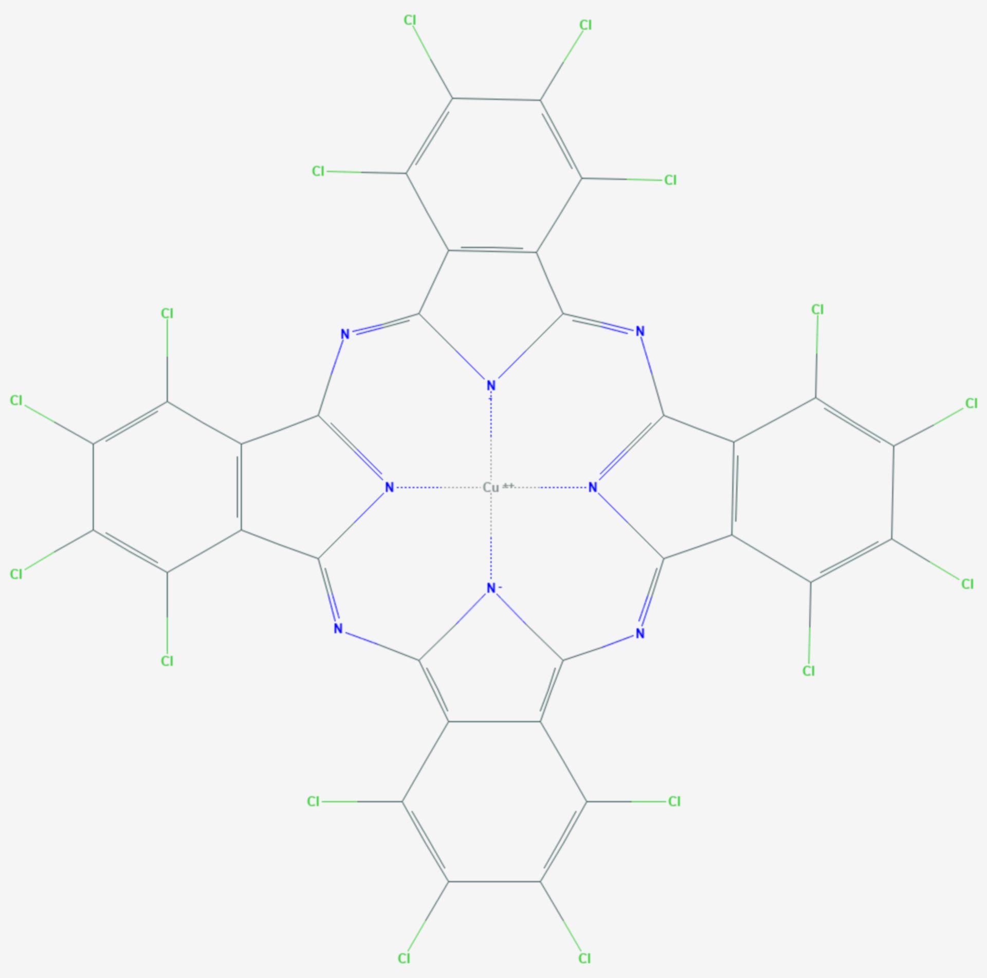 Phthalocyaningrün (Strukturformel)