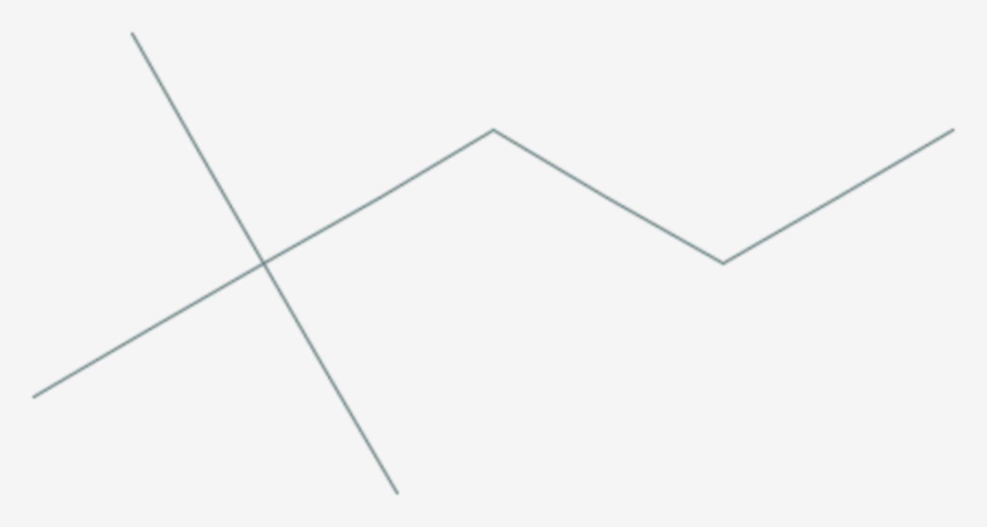 2,2-Dimethylpentan (Strukturformel)