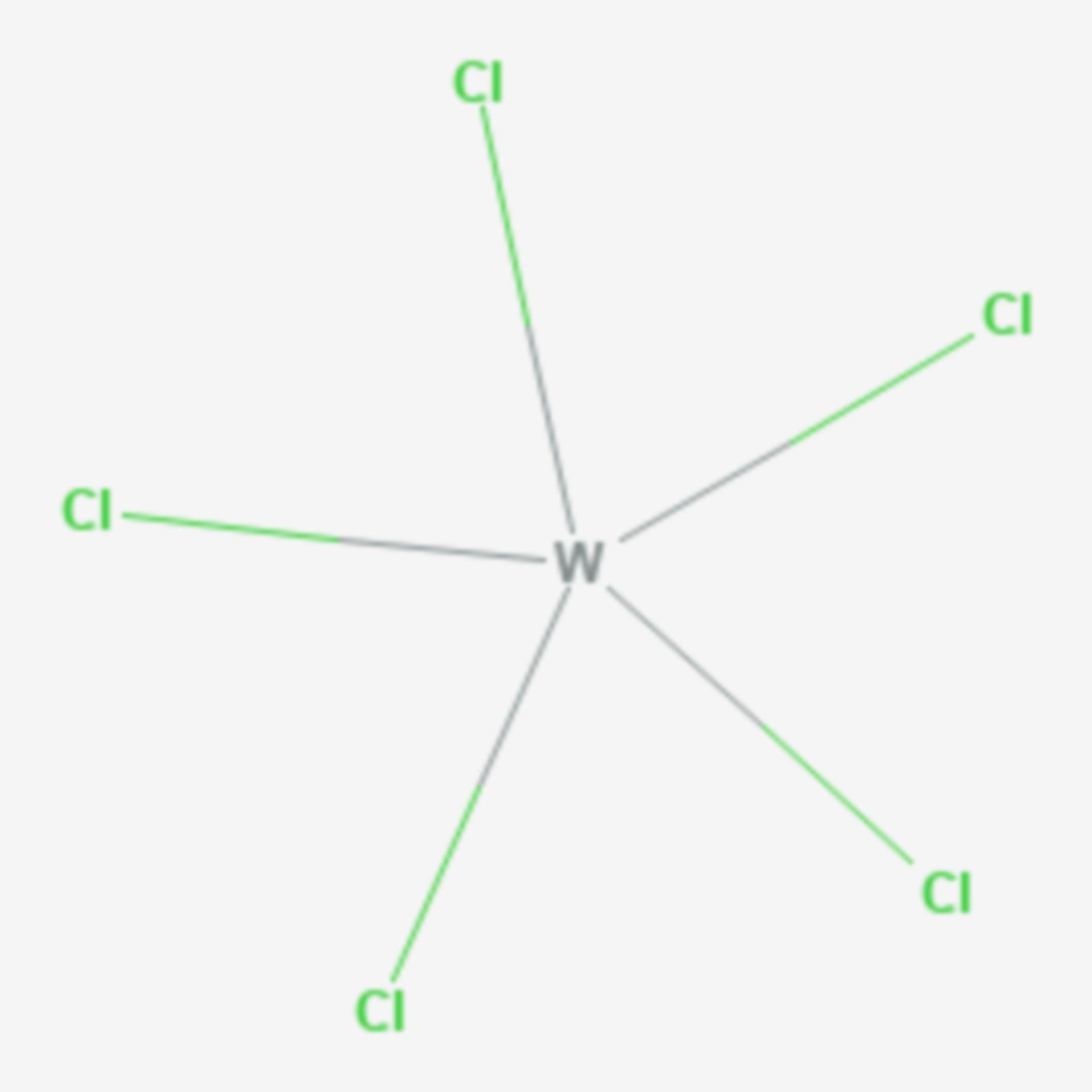 Wolfram(V)-chlorid (Strukturformel)