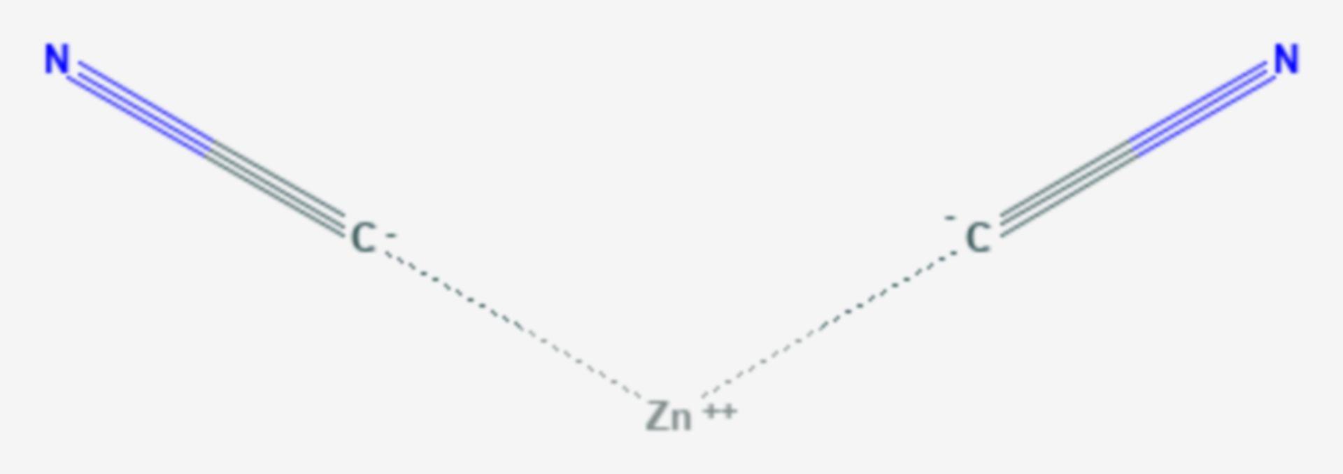 Zinkcyanid (Strukturformel)