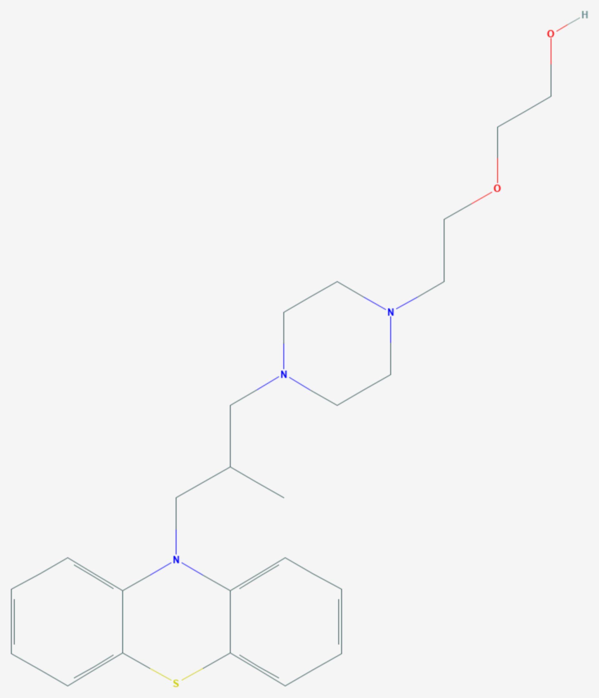 Dixyrazin (Strukturformel)