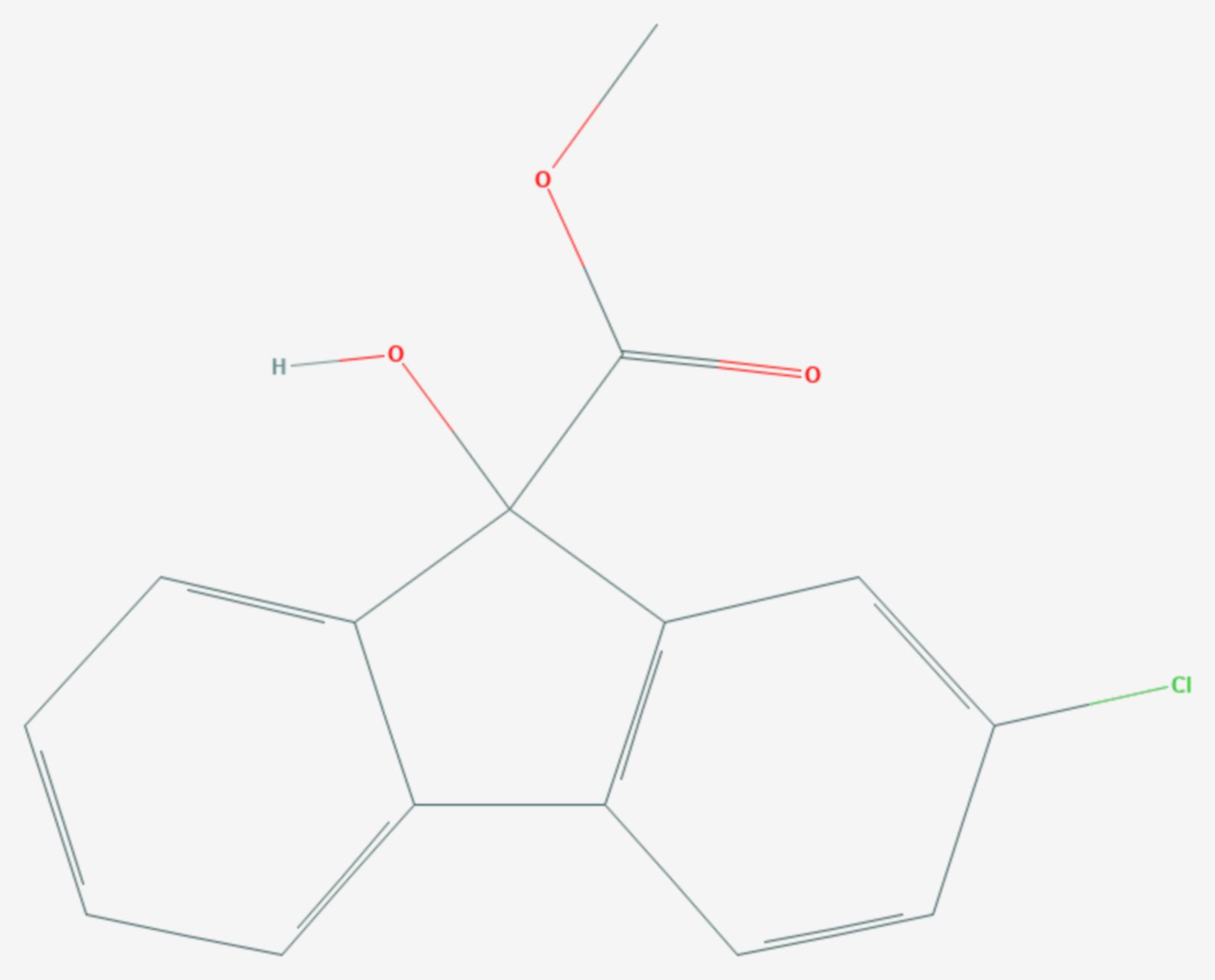 Chlorflurenol (Strukturformel)