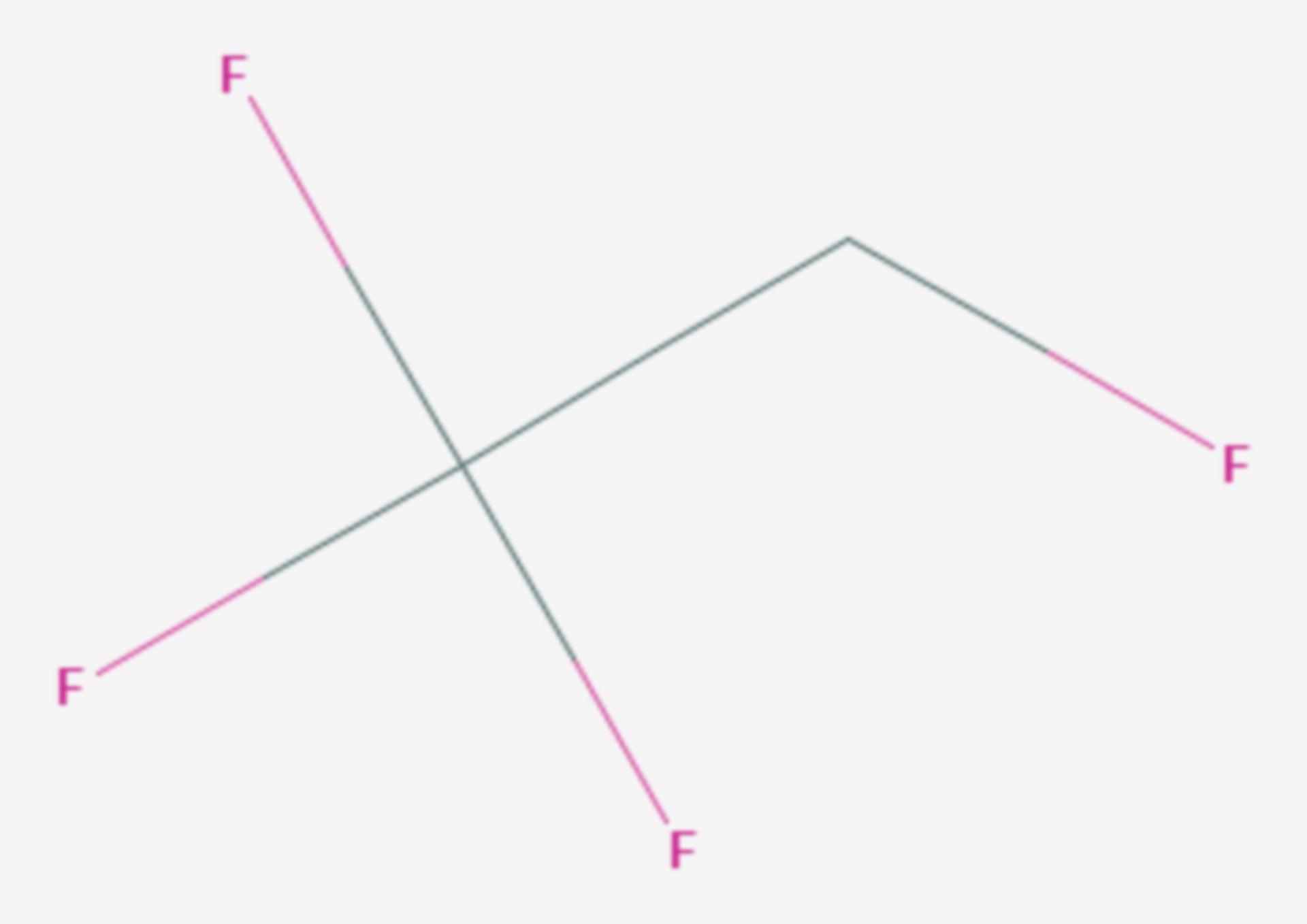 1,1,1,2-Tetrafluorethan (Strukturformel)