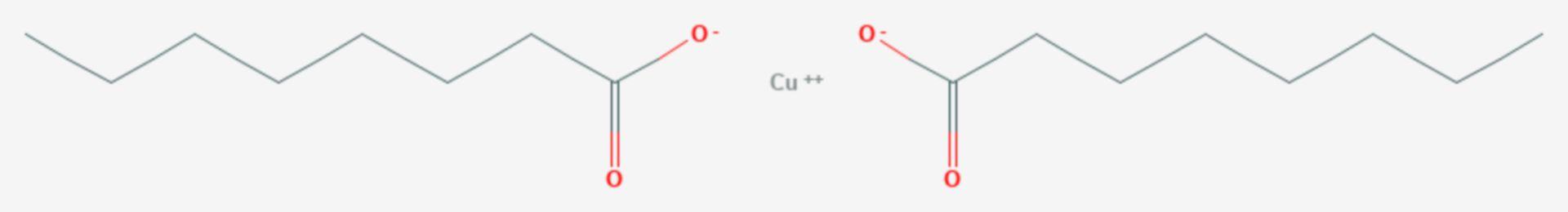 Kupferoctanoat (Strukturformel)
