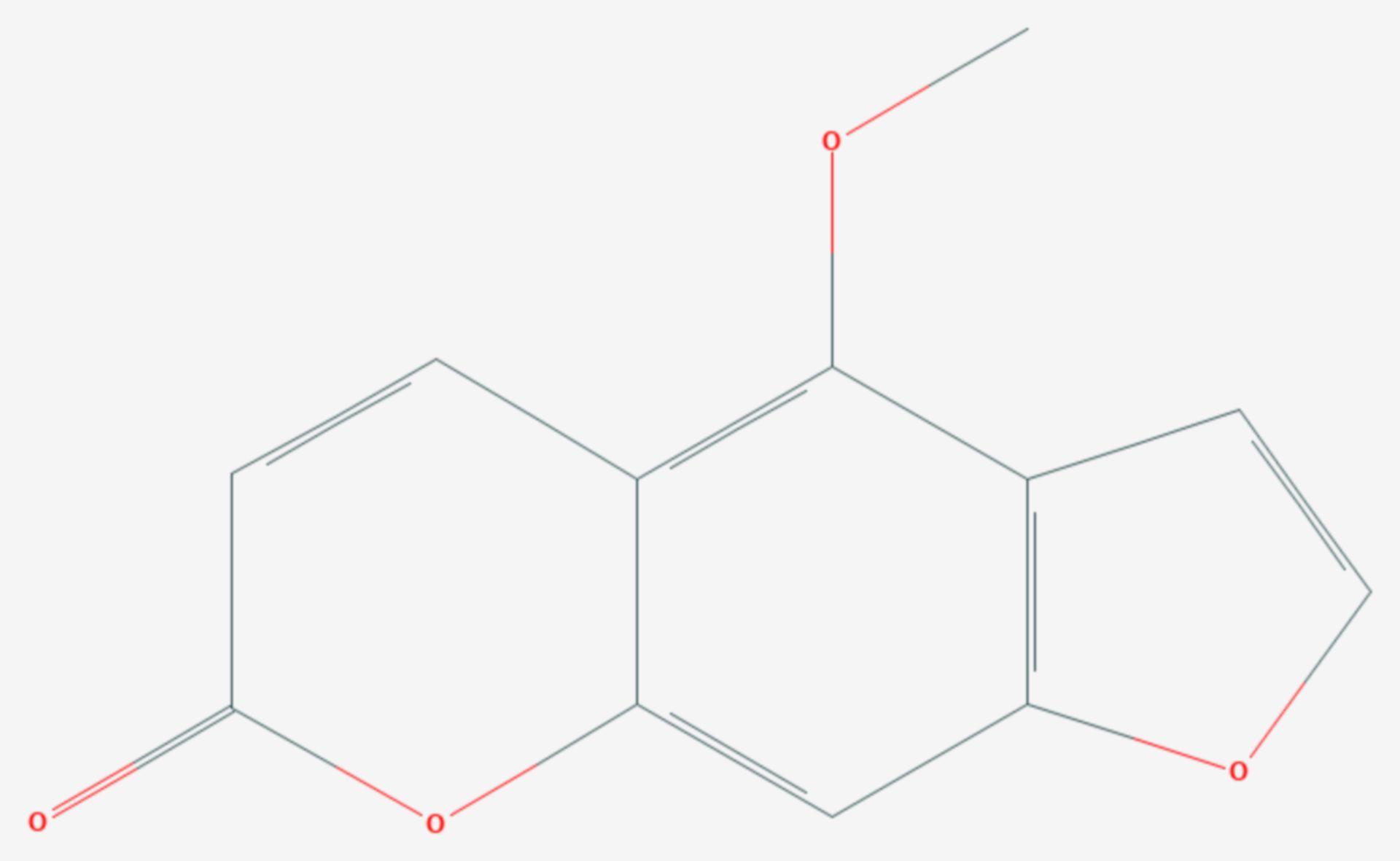 Bergapten (Strukturformel)