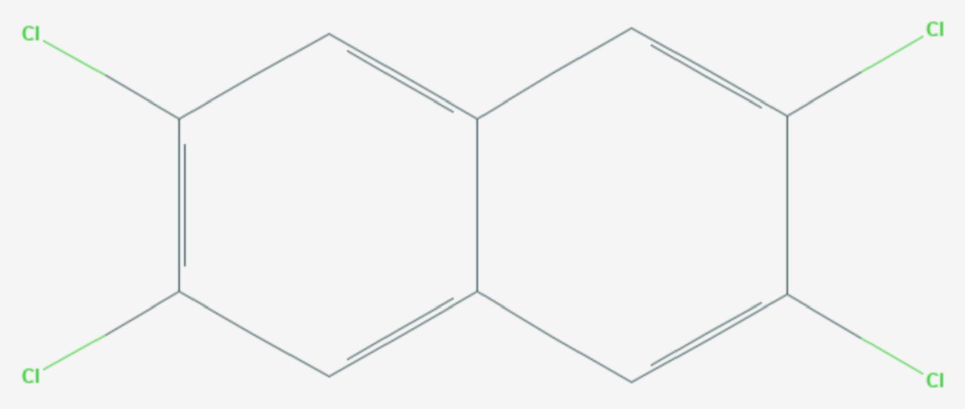 2,3,6,7-Tetrachlornaphthalin (Strukturformel)