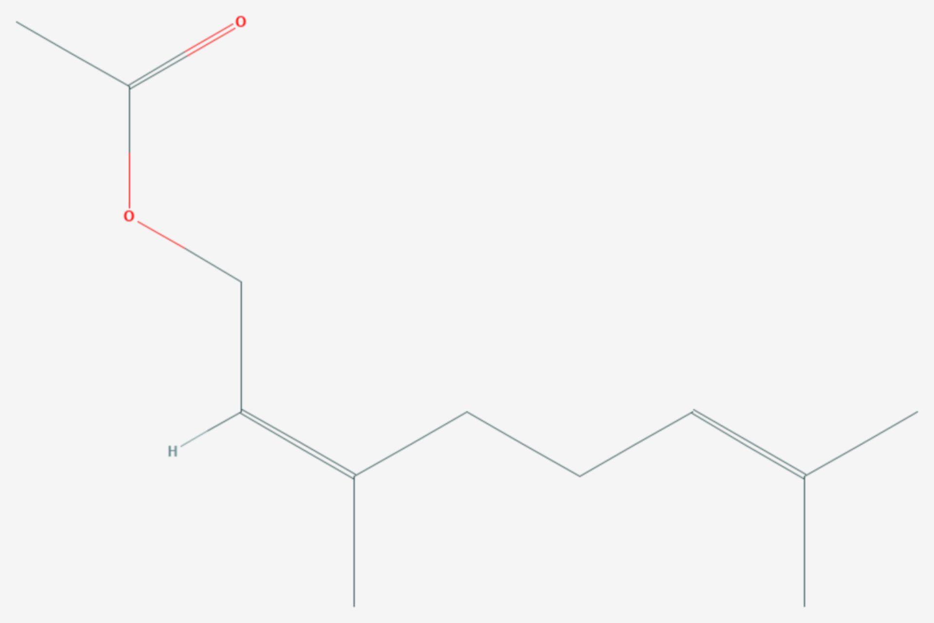 Essigsäurenerylester (Strukturformel)