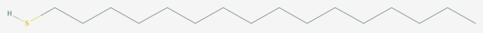 Hexadecanthiol (Strukturformel)