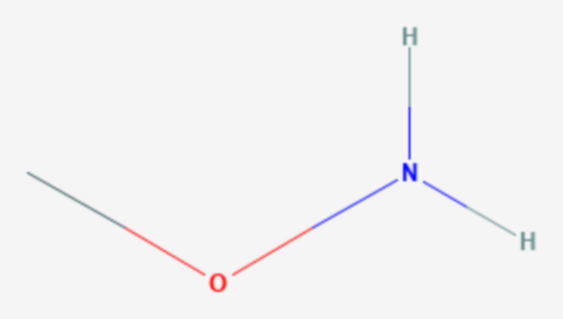 O-Methylhydroxylamin (Strukturformel)