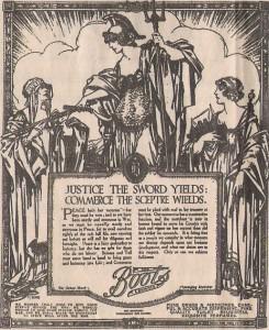 Annonce aus dem Jahr 1911: Früher präsentierte sich Boots als sozialer Konzern. Foto: Wikipedia (CC0) - https://commons.wikimedia.org/wiki/File:Boots_advert.jpg