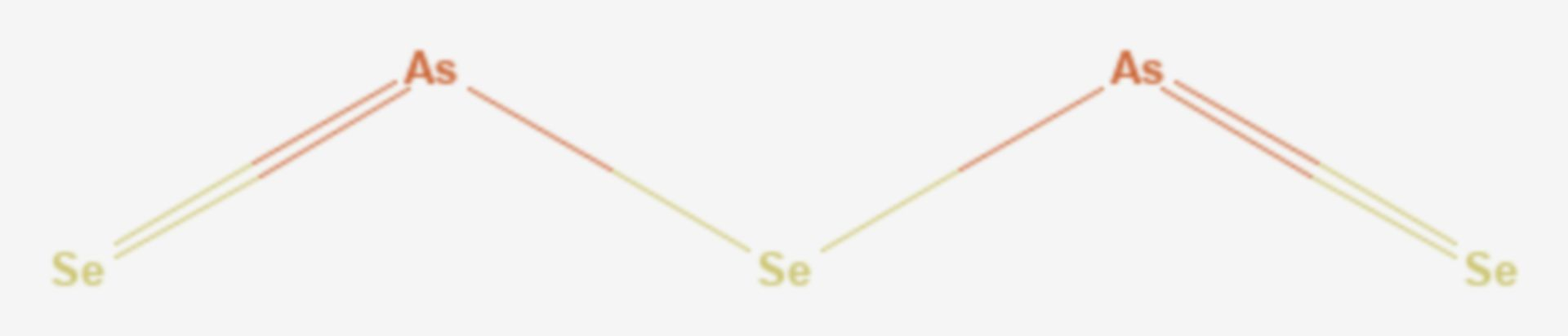 Arsen(III)-selenid (Strukturformel)