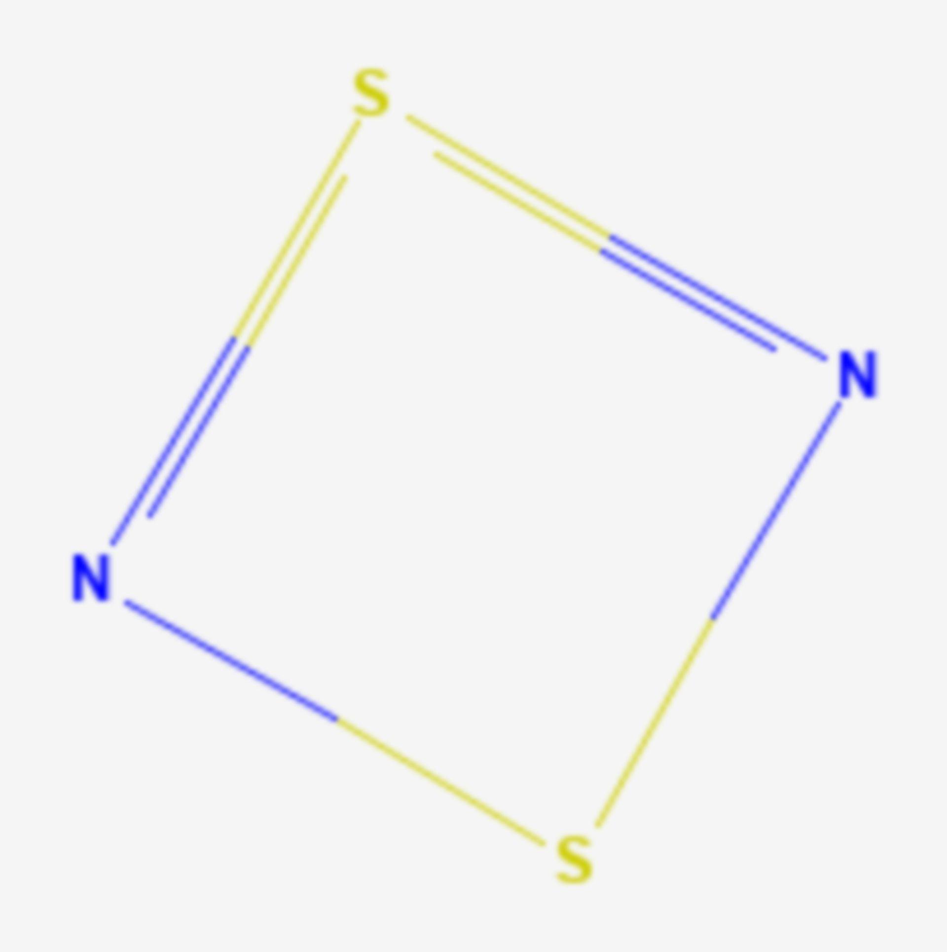 Dischwefeldinitrid (Strukturformel)