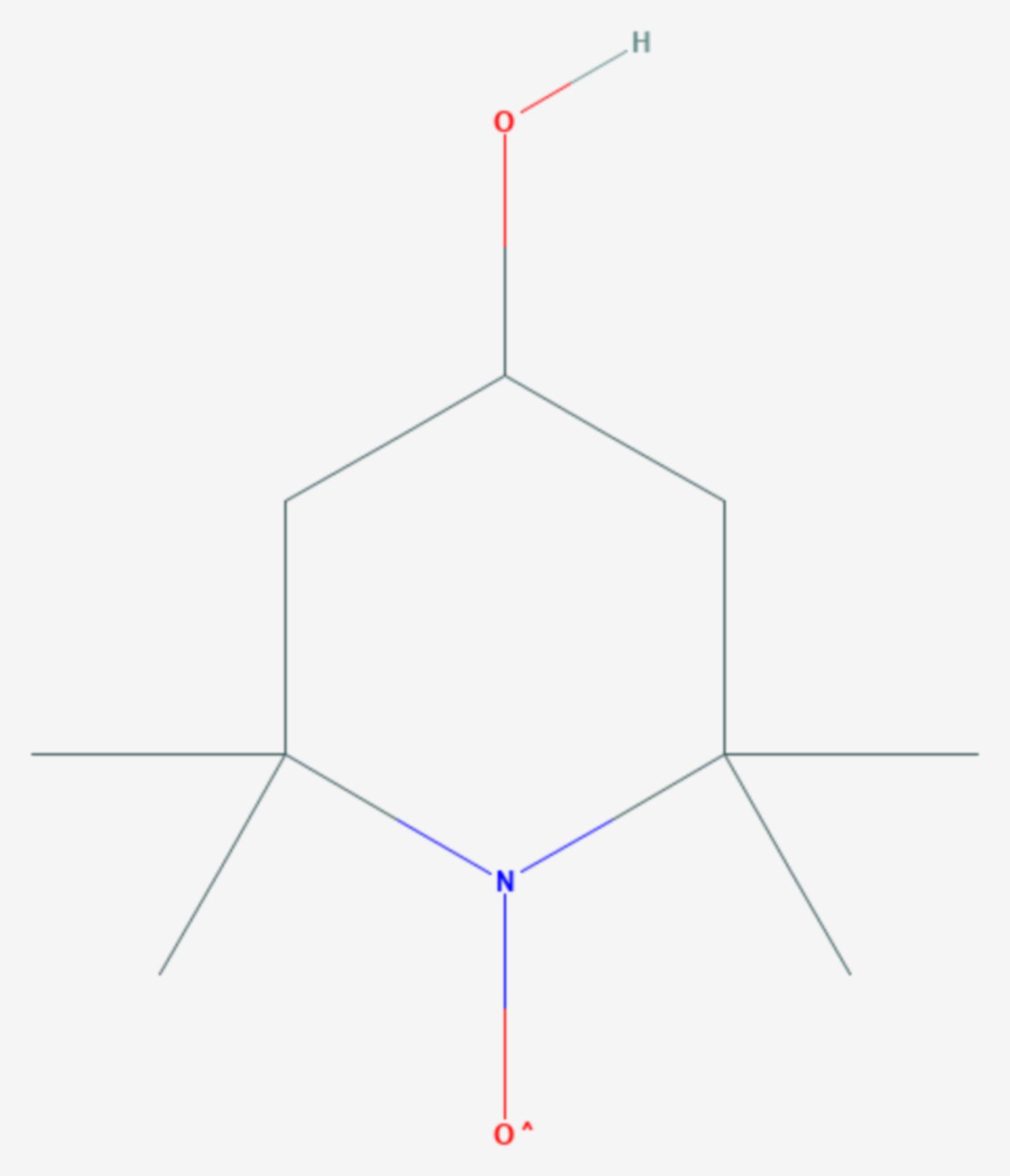4-Hydroxy-2,2,6,6-tetramethylpiperidinyloxyl (Strukturformel)
