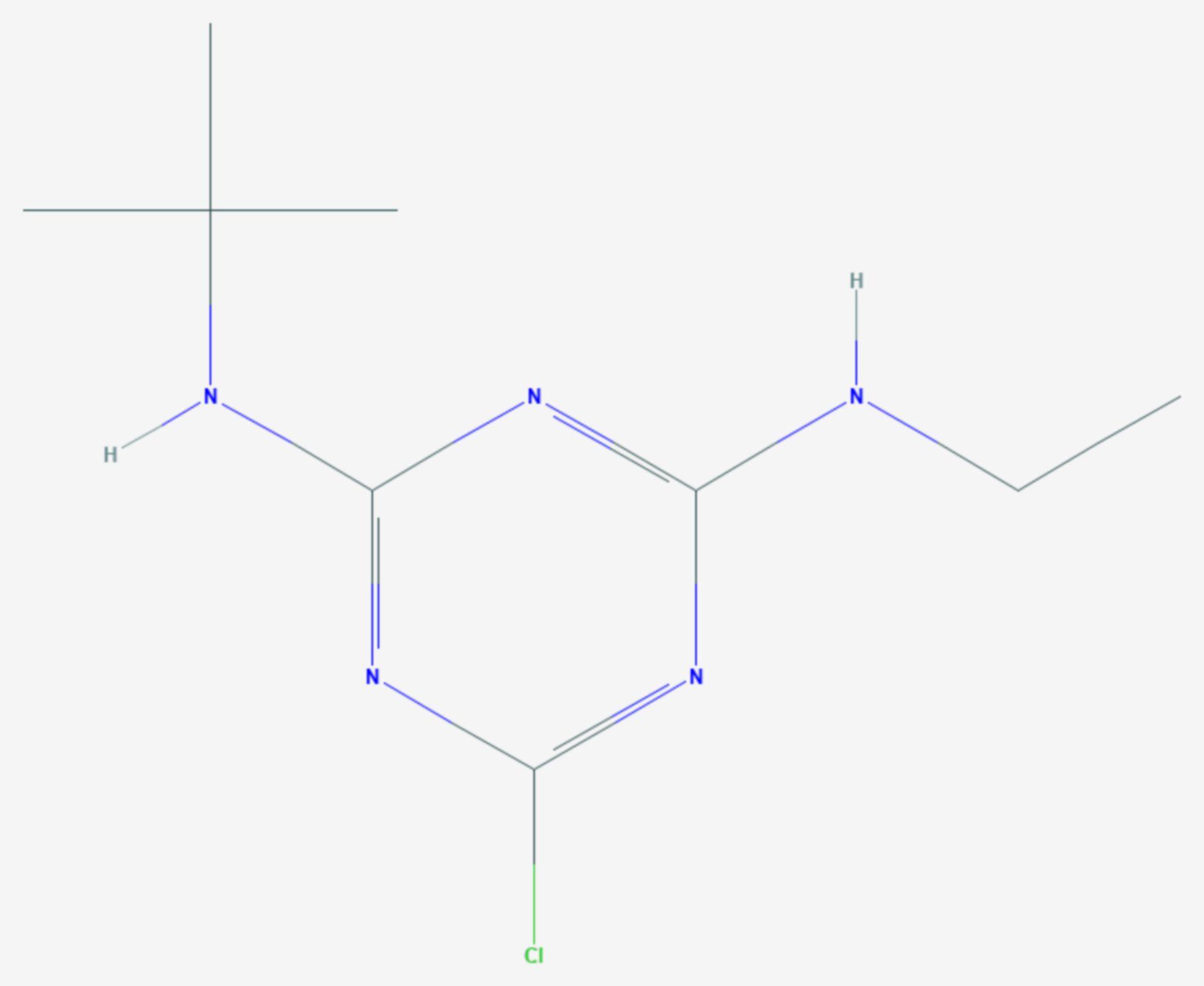 Terbuthylazin (Strukturformel)