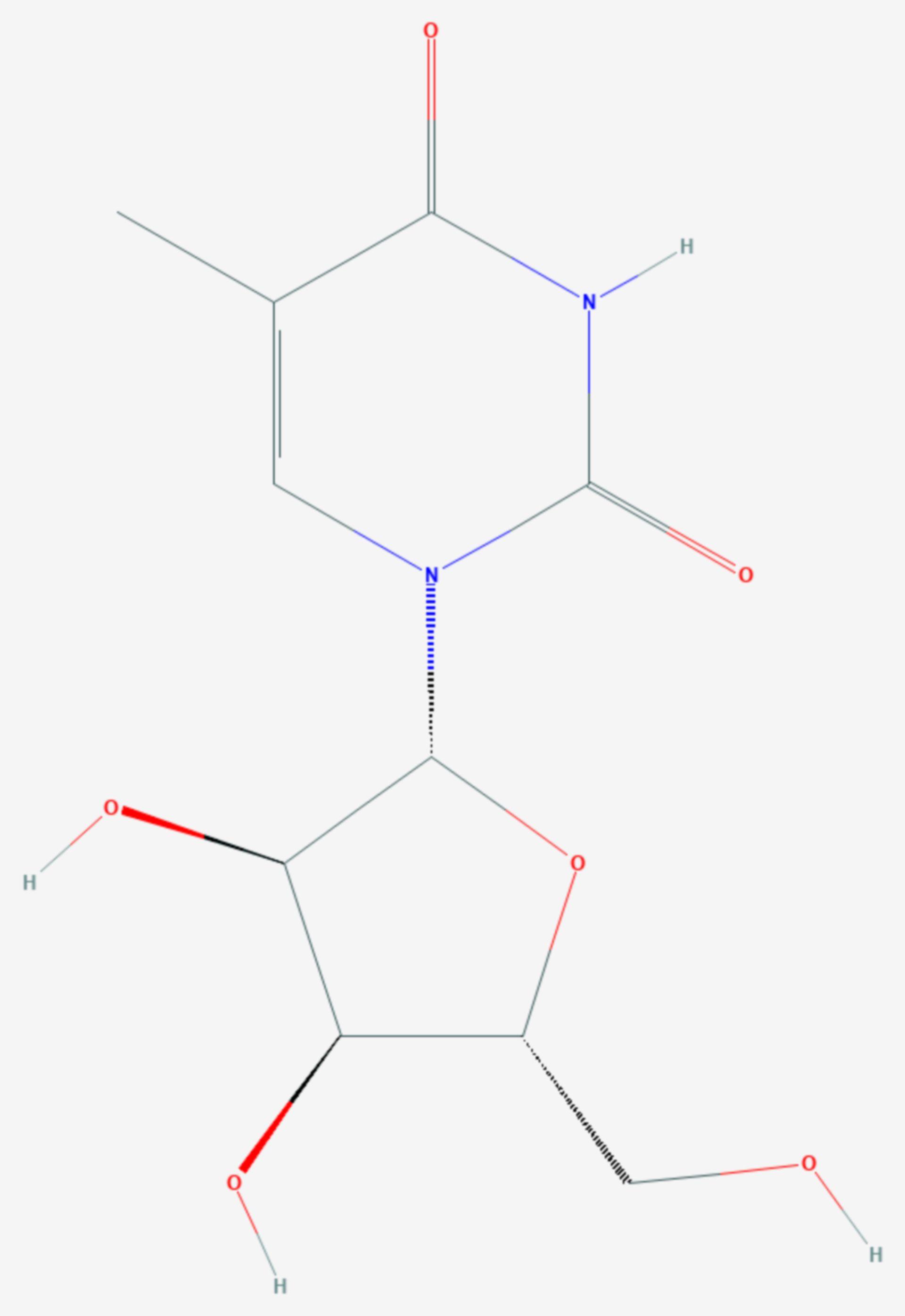 Ribothymidin (Strukturformel)