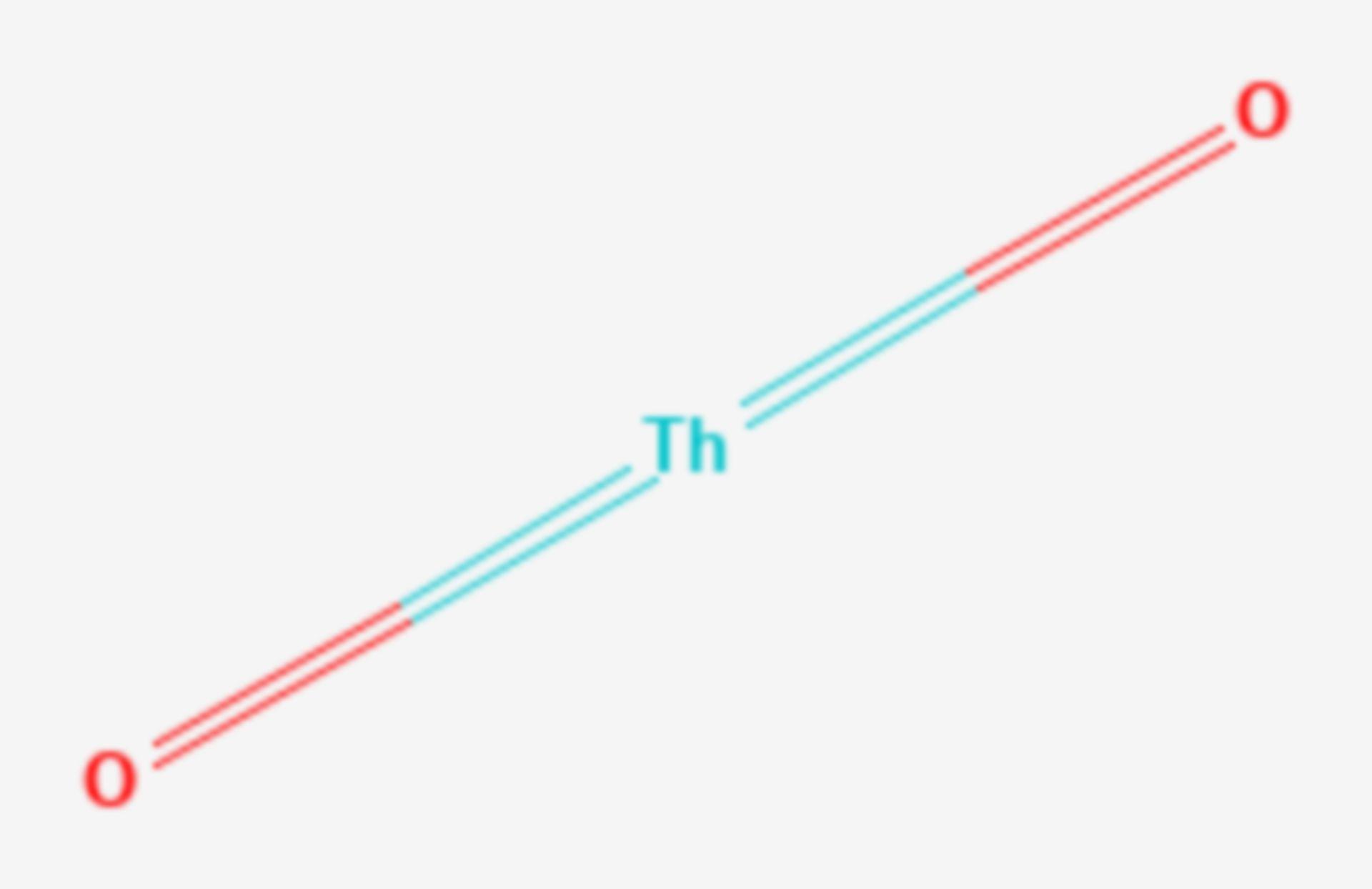 Thorium(IV)-oxid (Strukturformel)
