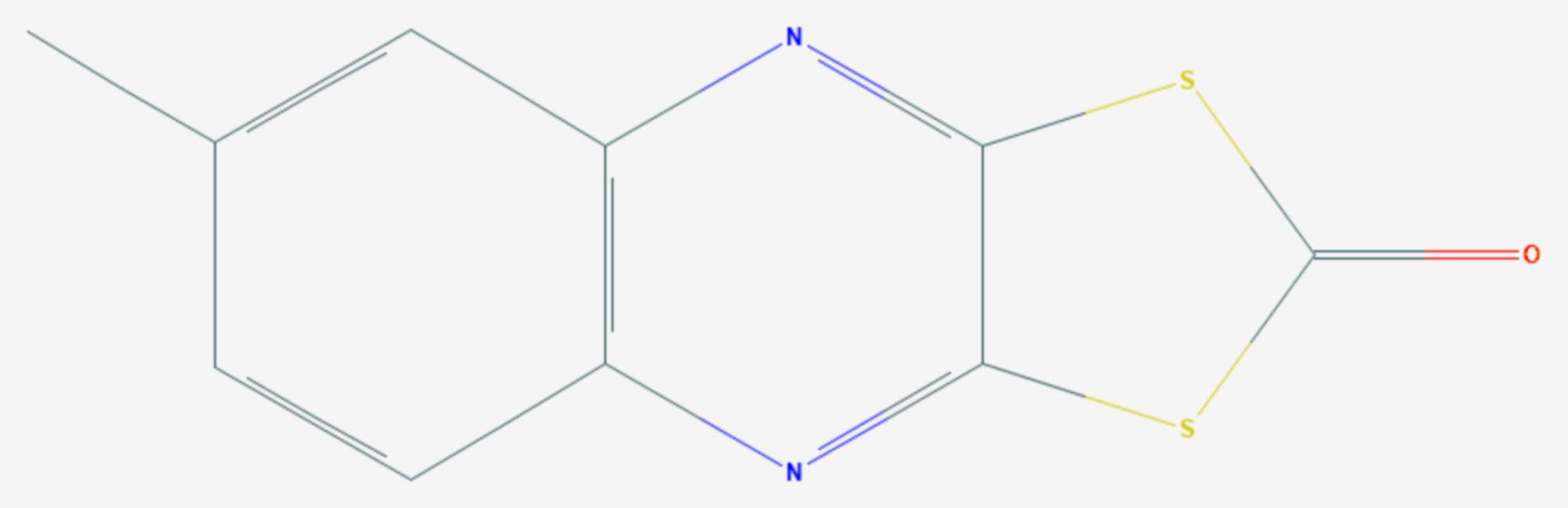 Chinomethionat (Strukturformel)