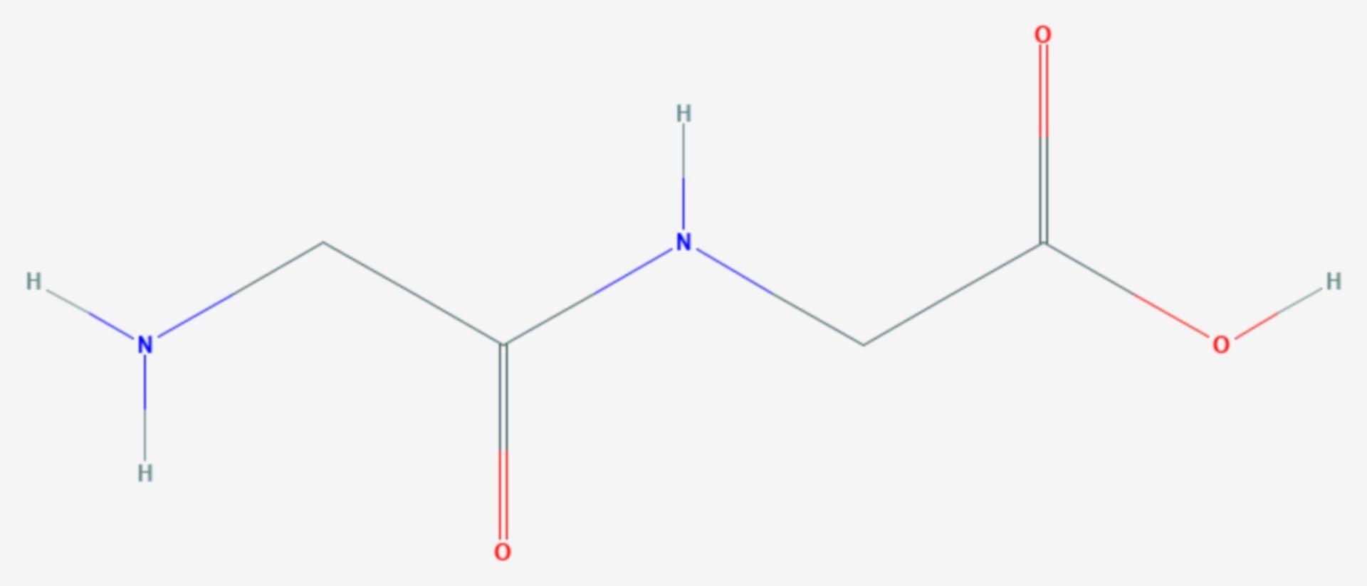 Glycylglycin (Strukturformel)