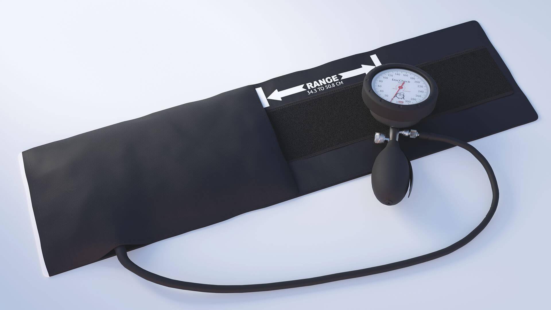 3D-Rendering: Blutdruckmessgerät DocCheck