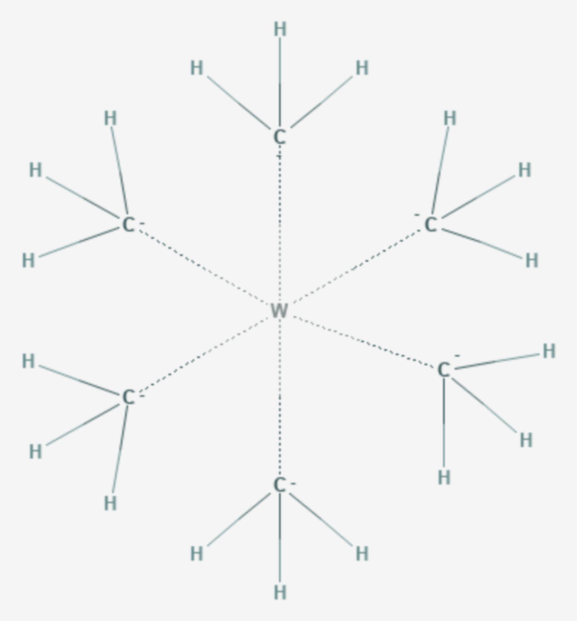 Hexamethylwolfram (Strukturformel)